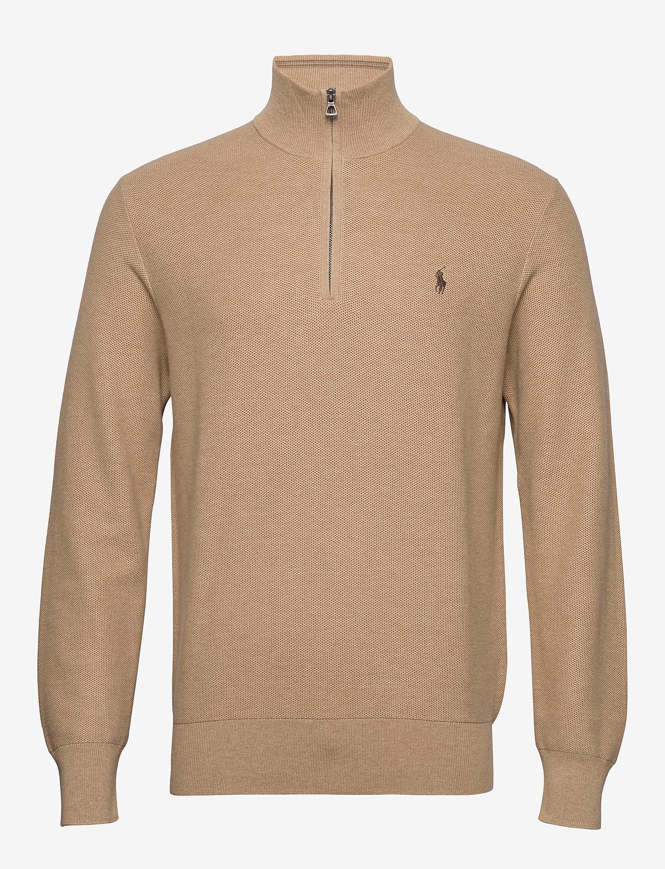 Polo Ralph Lauren - Cotton Half-Zip Sweater - half zip - camel melange - 1
