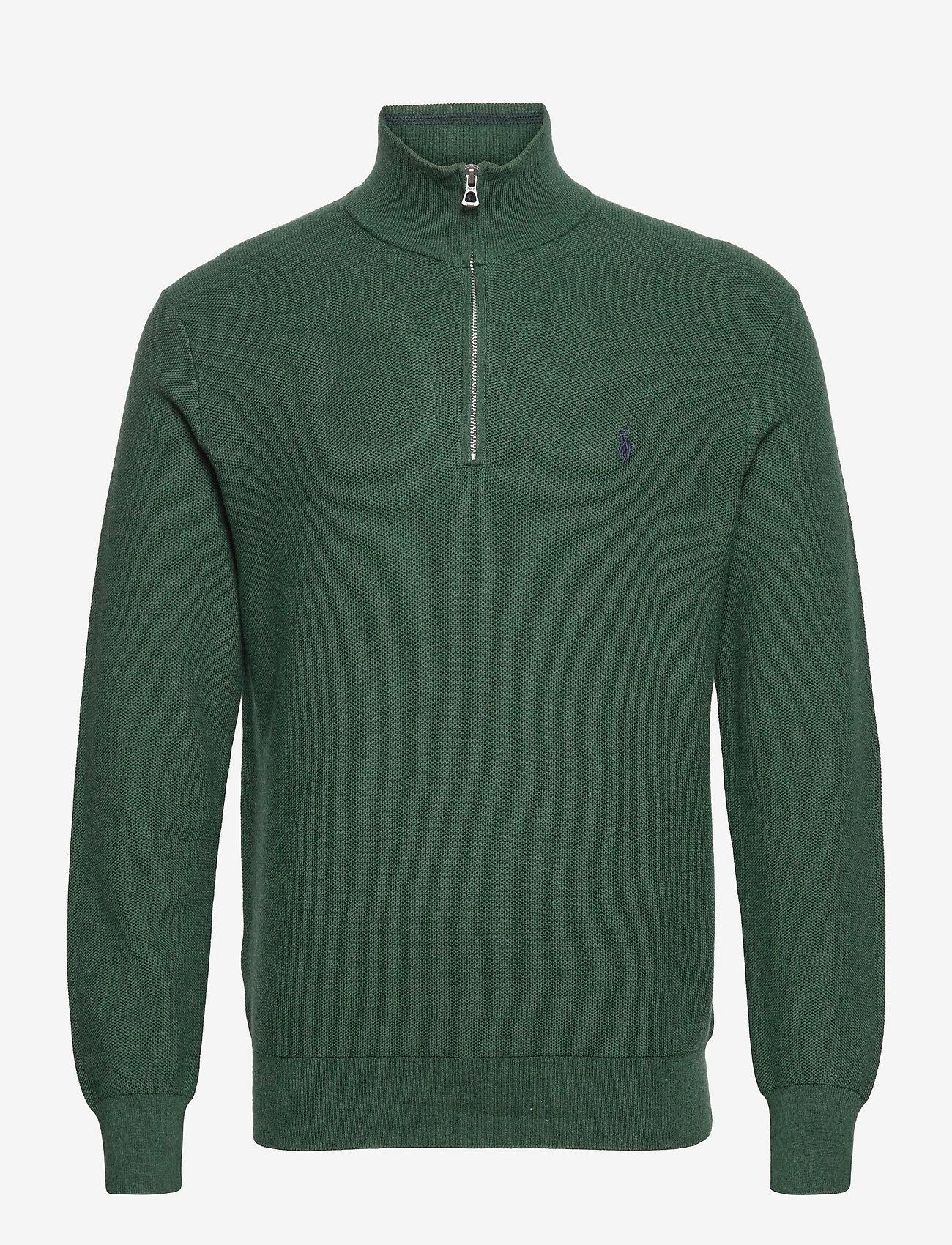 Polo Ralph Lauren - Cotton Half-Zip Sweater - half zip - scotch pine heath - 0