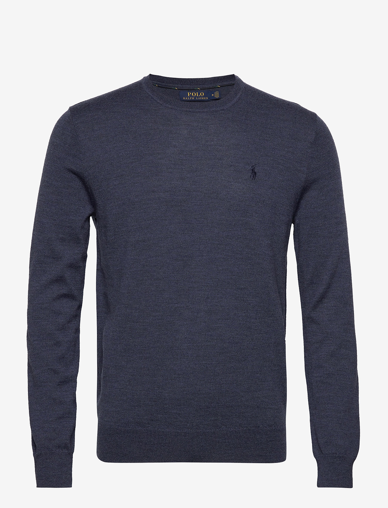 Polo Ralph Lauren - Slim Washable Merino Sweater - knitted round necks - fresco blue heath - 1
