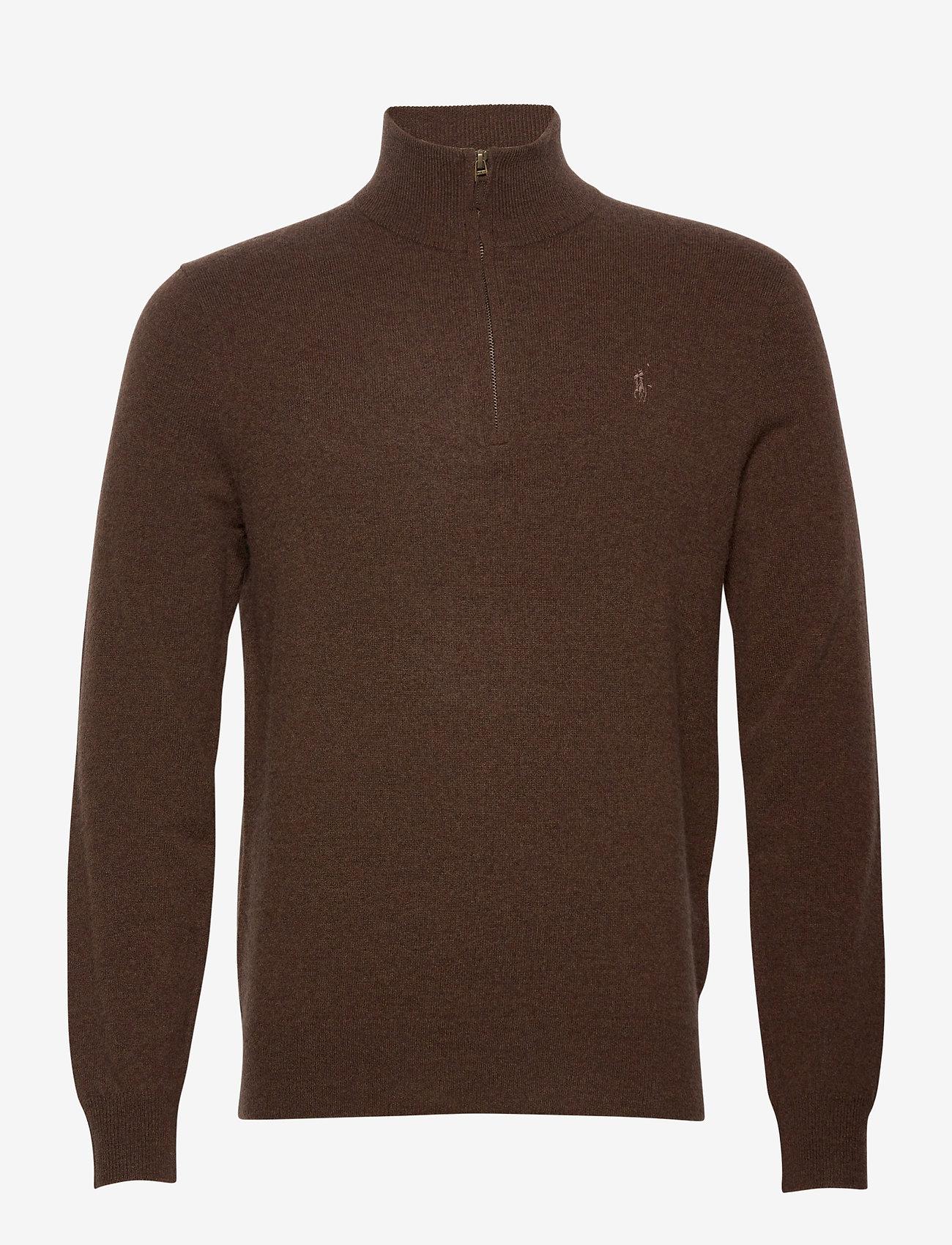 Polo Ralph Lauren - LS HZ PP-LONG SLEEVE-SWEATER - turtlenecks - brown heather - 0