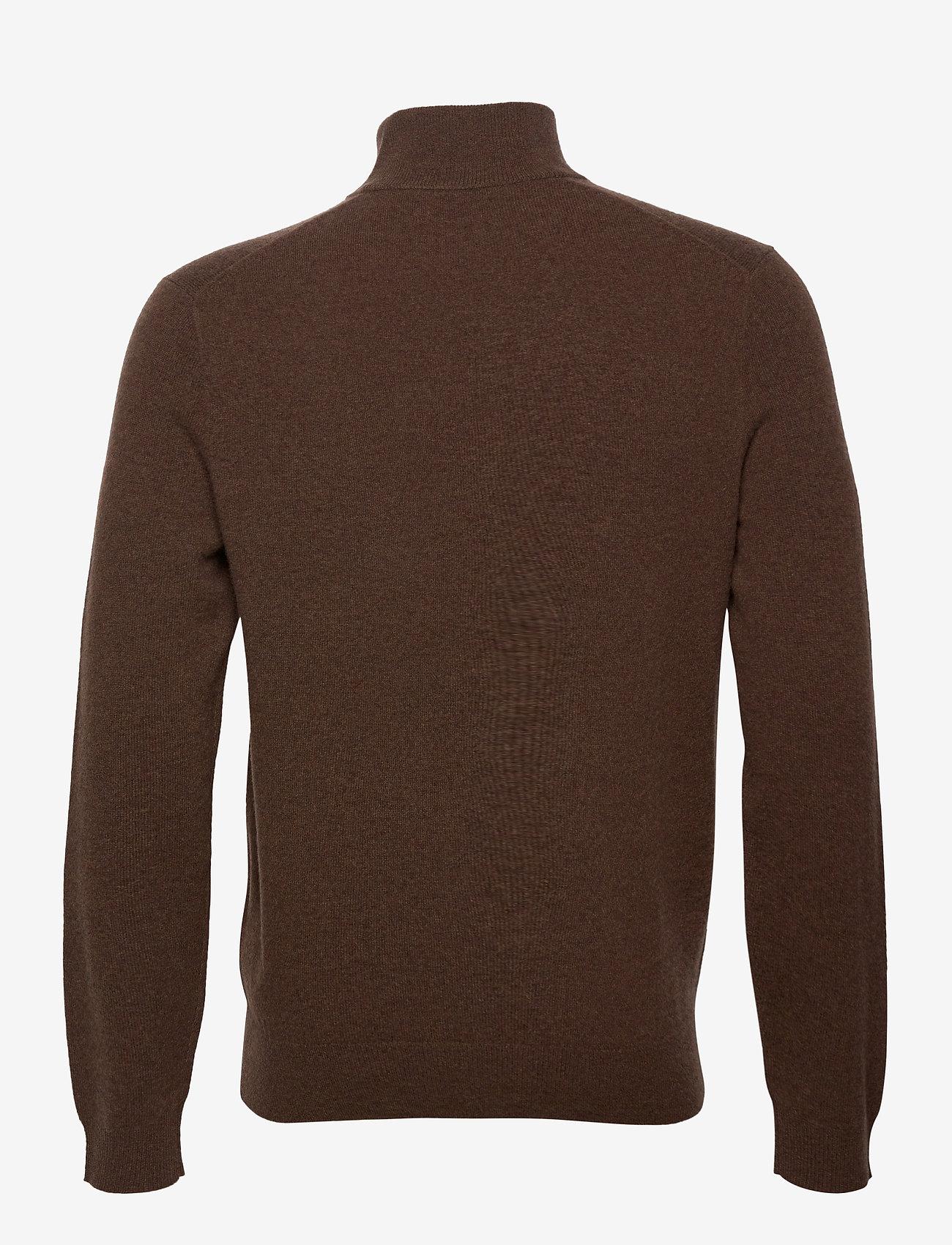 Polo Ralph Lauren - LS HZ PP-LONG SLEEVE-SWEATER - turtlenecks - brown heather - 1