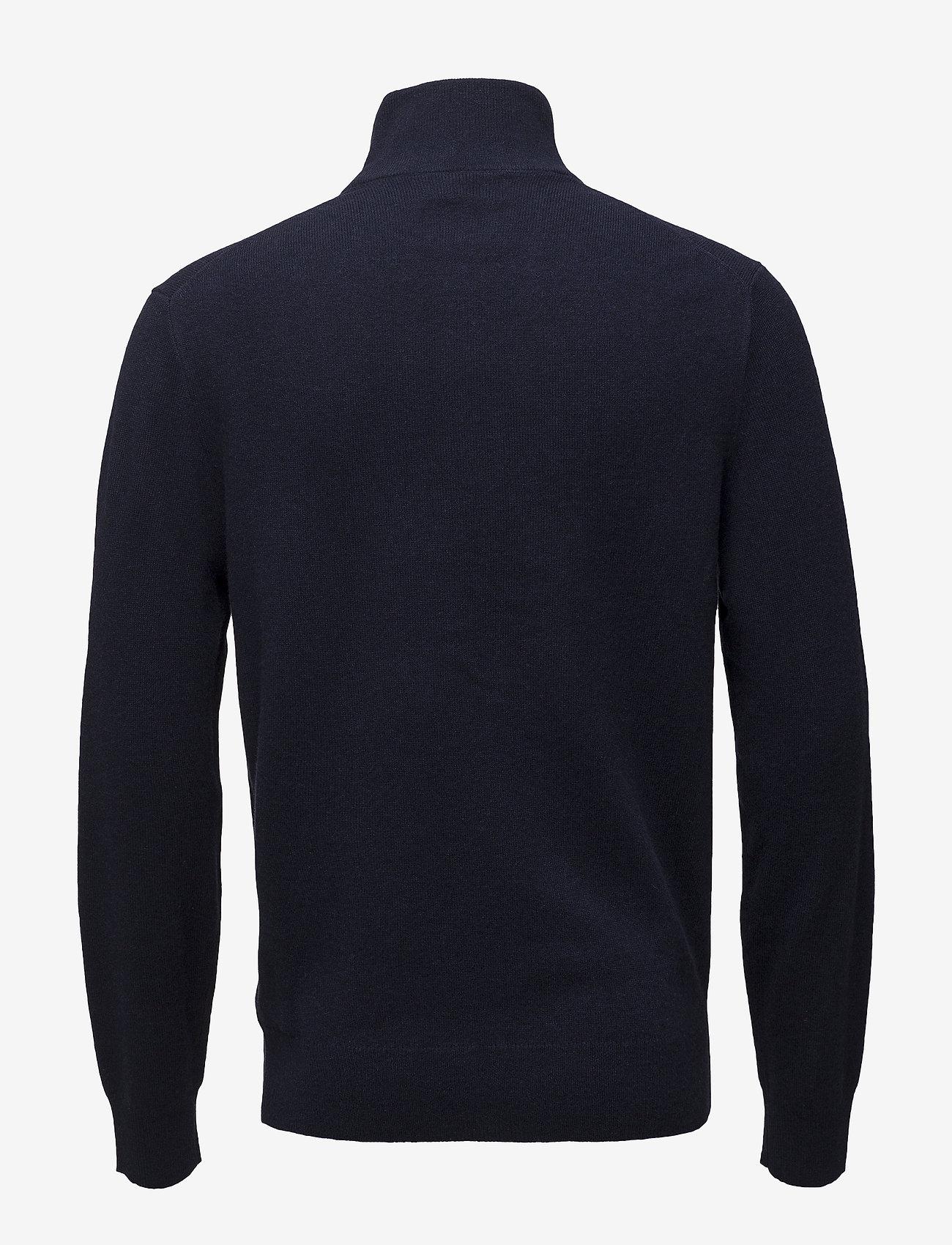 Polo Ralph Lauren - Merino Wool Quarter-Zip Sweater - half zip - hunter navy - 1