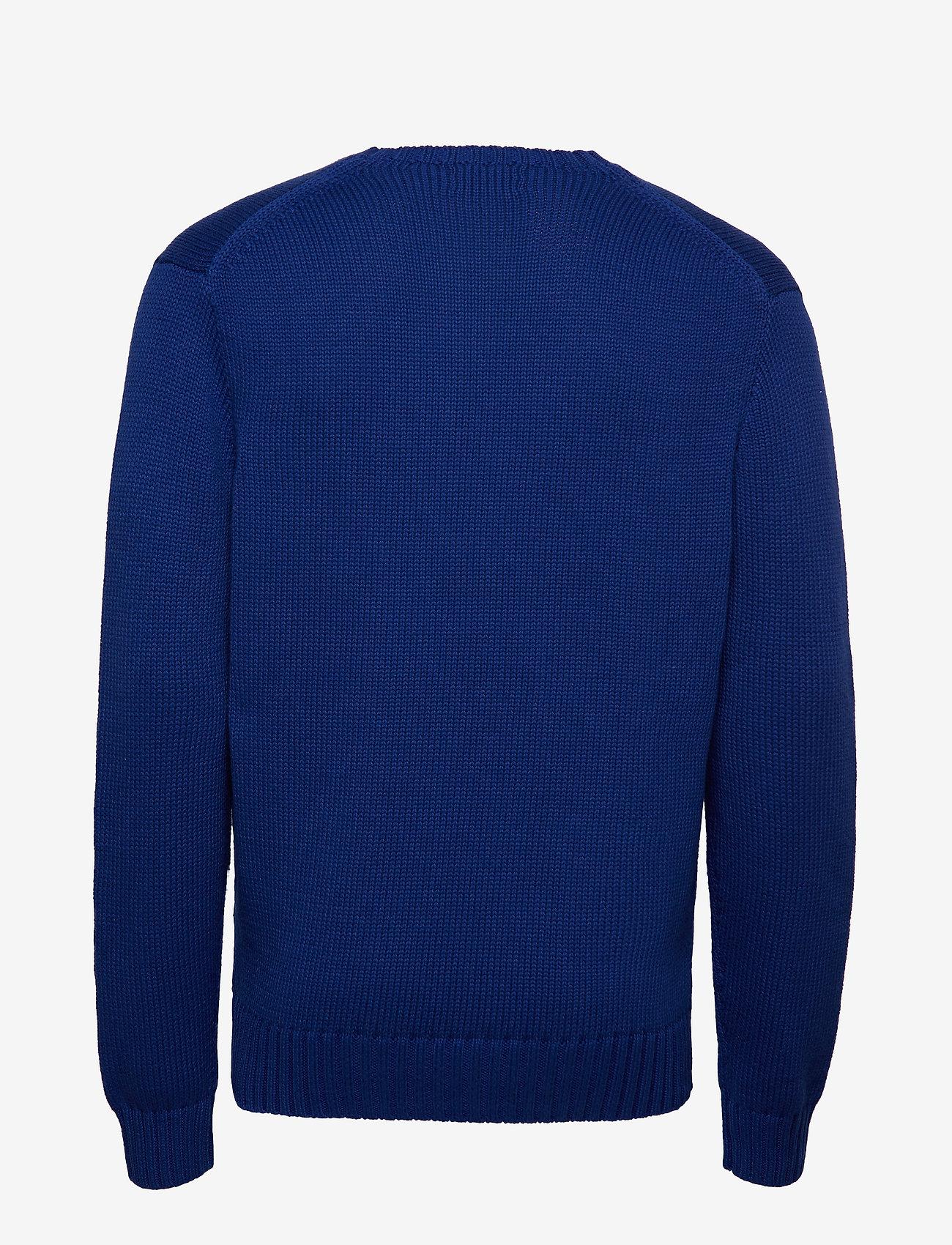 Polo Ralph Lauren - Cotton Crewneck Sweater - basic knitwear - heritage royal - 1