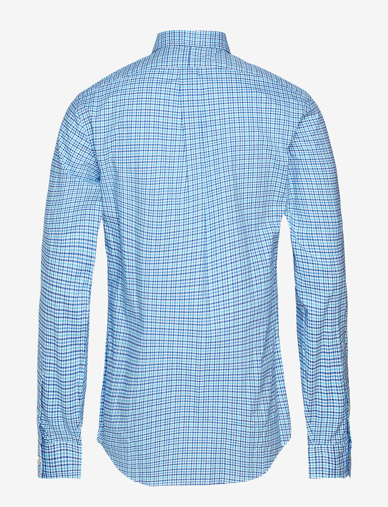 Slim Fit Gingham Cotton Shirt (3016b Cyan/navy) (657.25 kr) - Polo Ralph Lauren