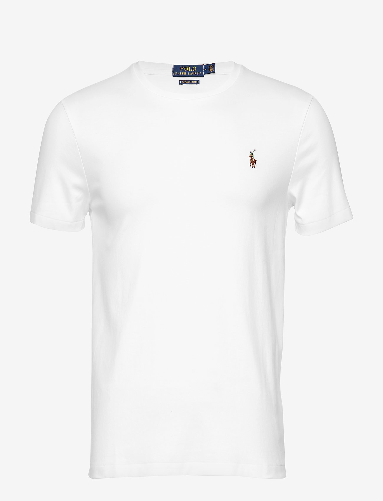 Polo Ralph Lauren - Custom Slim Soft Cotton Tee - basic t-shirts - white - 1