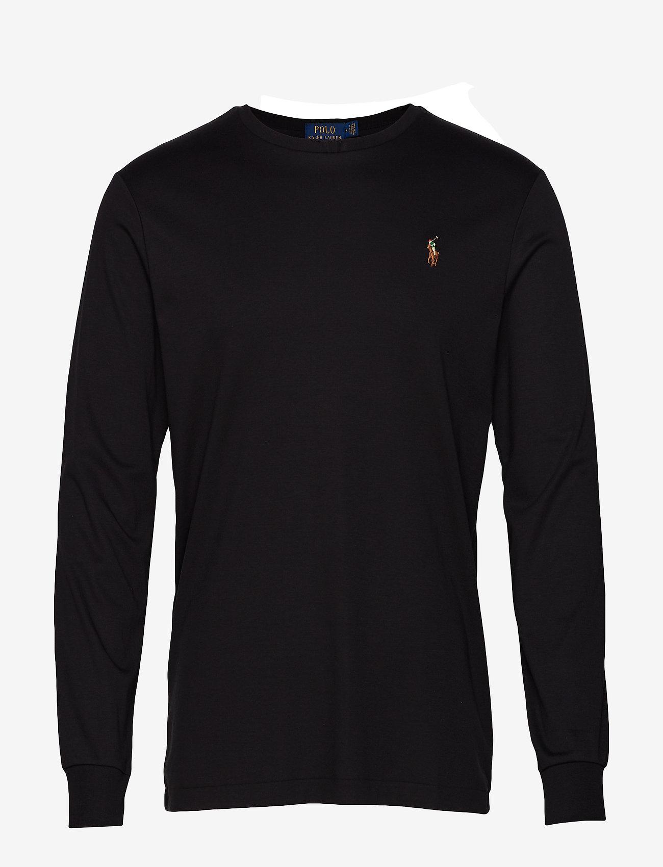Polo Ralph Lauren - Custom Slim Interlock T-Shirt - langermede t-skjorter - polo black