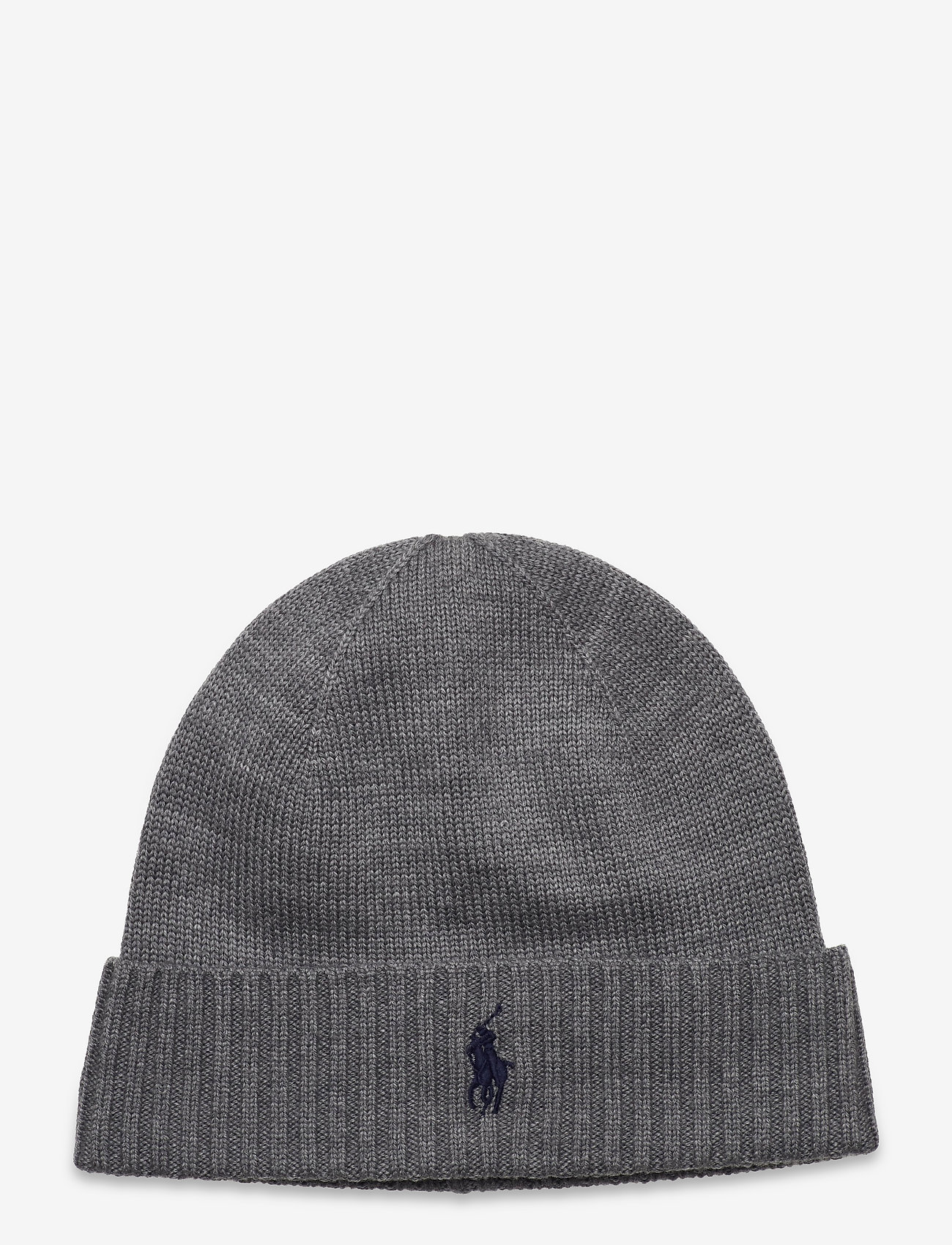 Polo Ralph Lauren - Wool Signature Pony Hat - bonnets & casquettes - fawn grey heather - 0