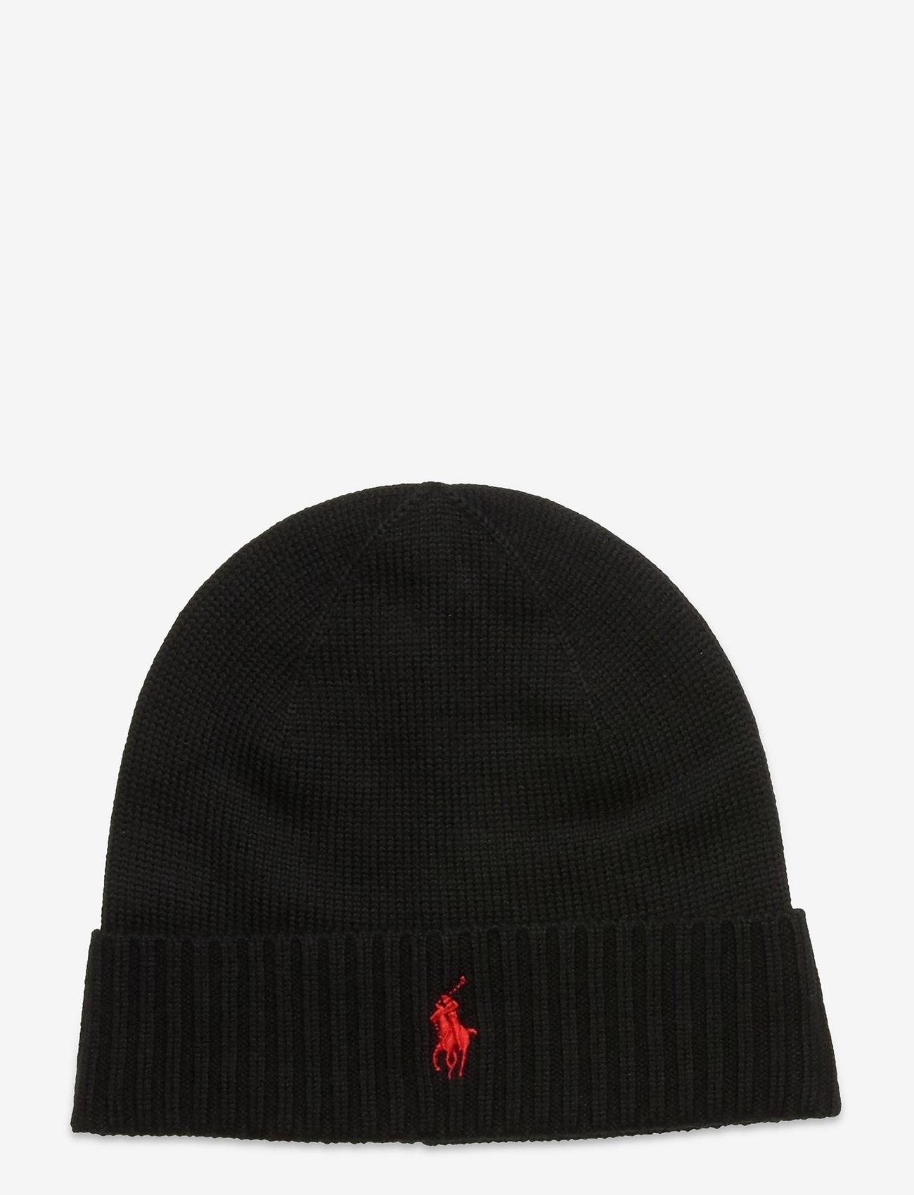 Polo Ralph Lauren - Wool Signature Pony Hat - bonnets & casquettes - polo black - 0