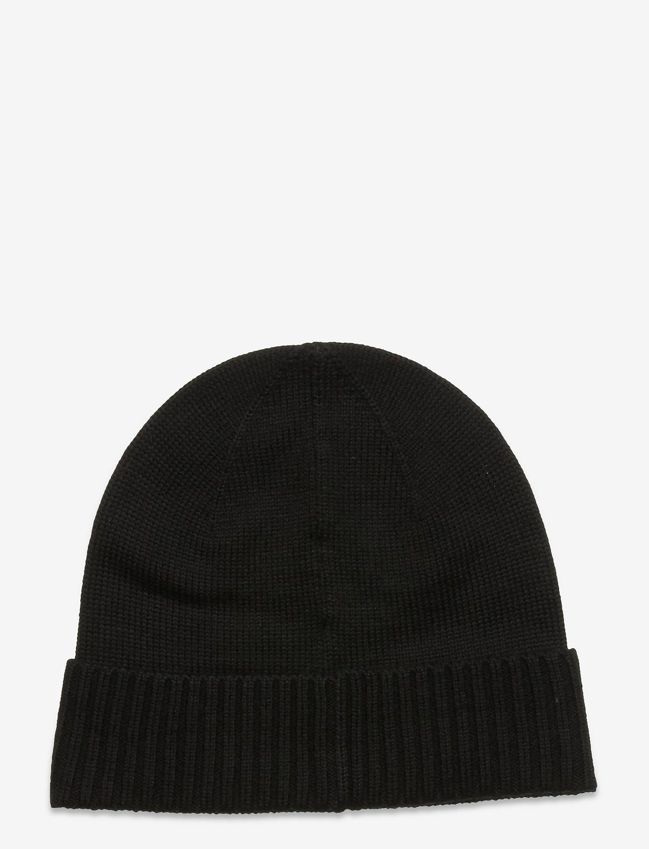 Polo Ralph Lauren - Wool Signature Pony Hat - bonnets & casquettes - polo black - 1