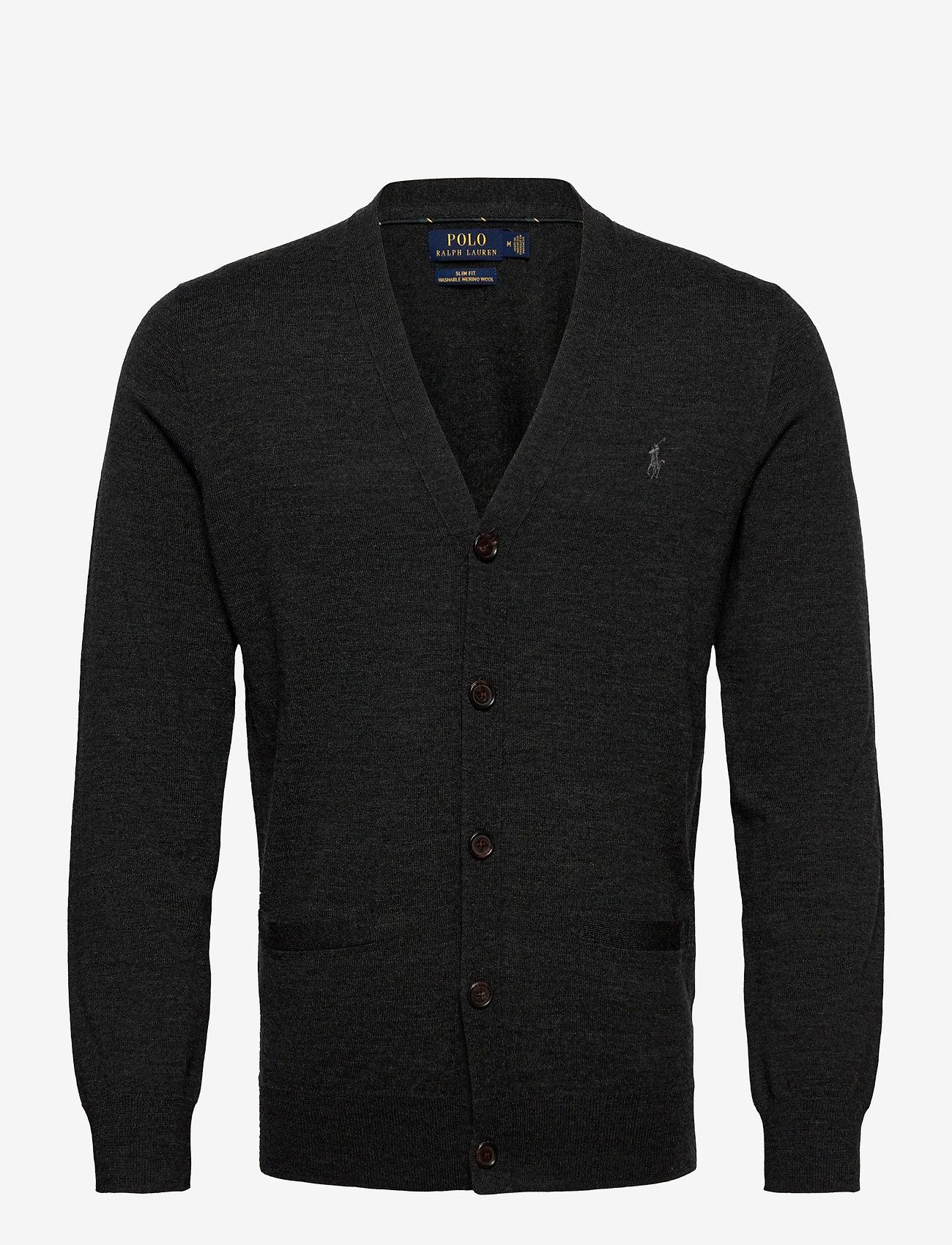 Polo Ralph Lauren - LS SF VN CRD-LONG SLEEVE-SWEATER - stickade basplagg - dark granite heat - 1