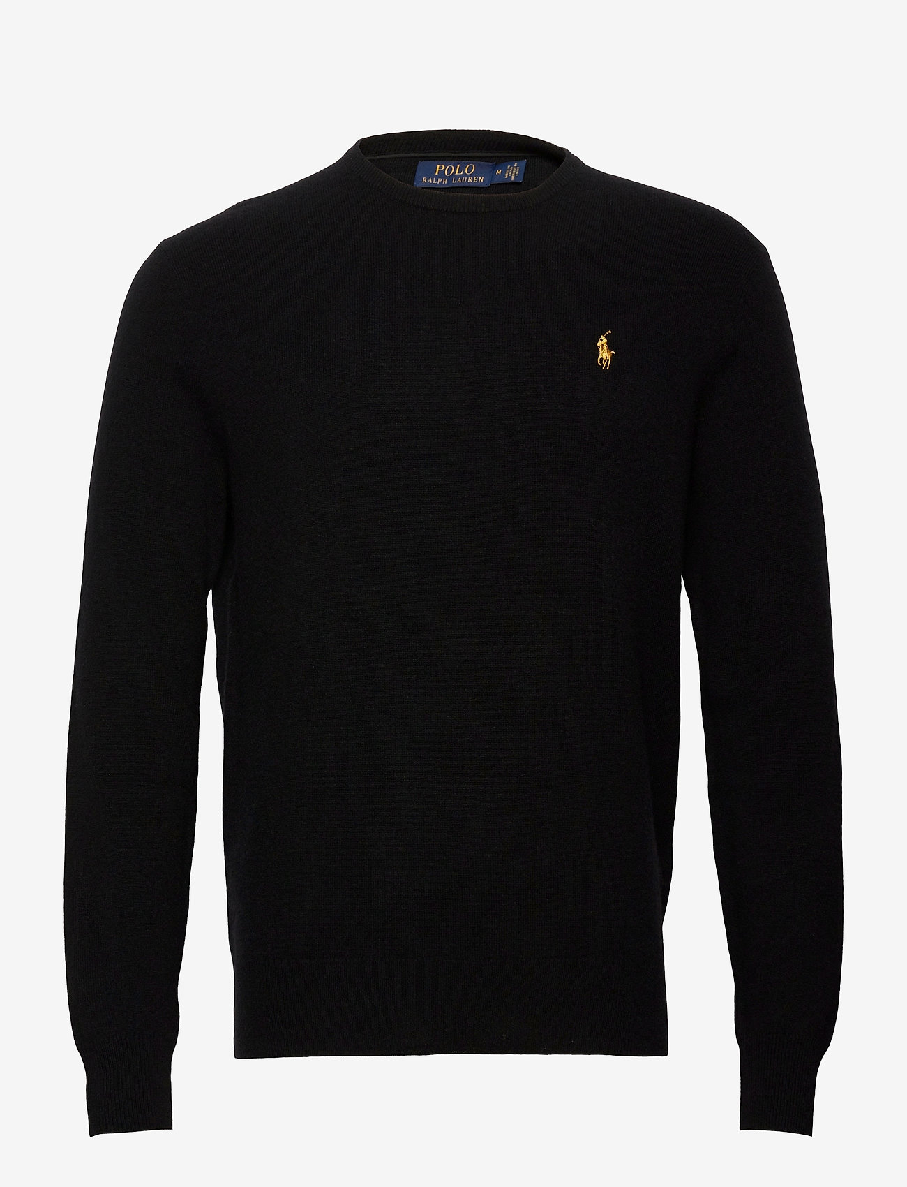Polo Ralph Lauren - LORYELLE WOOL-LS CN PP - tops - black w/ gold pp - 0