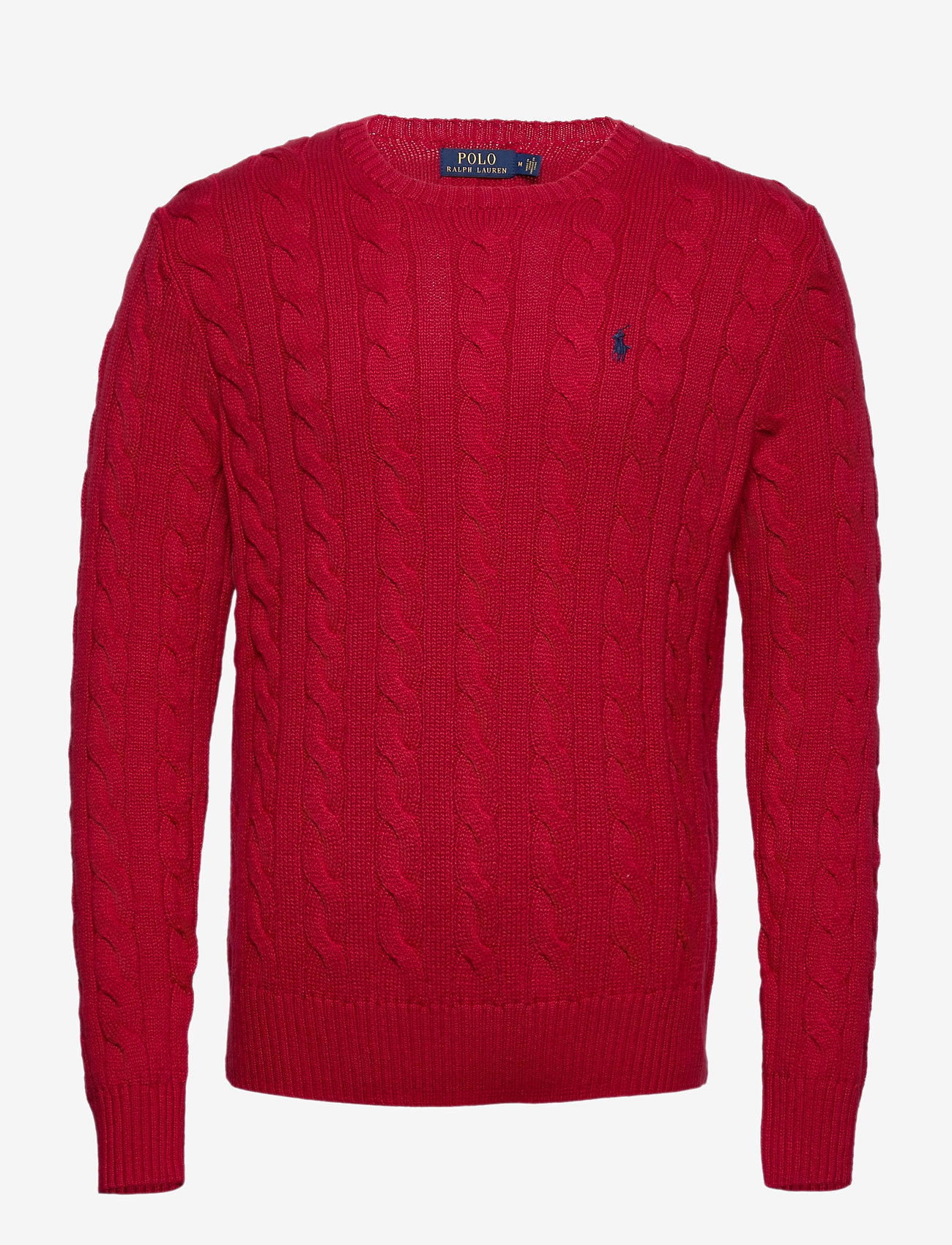 Polo Ralph Lauren - Cable-Knit Cotton Sweater - podstawowa odzież z dzianiny - park avenue red - 0
