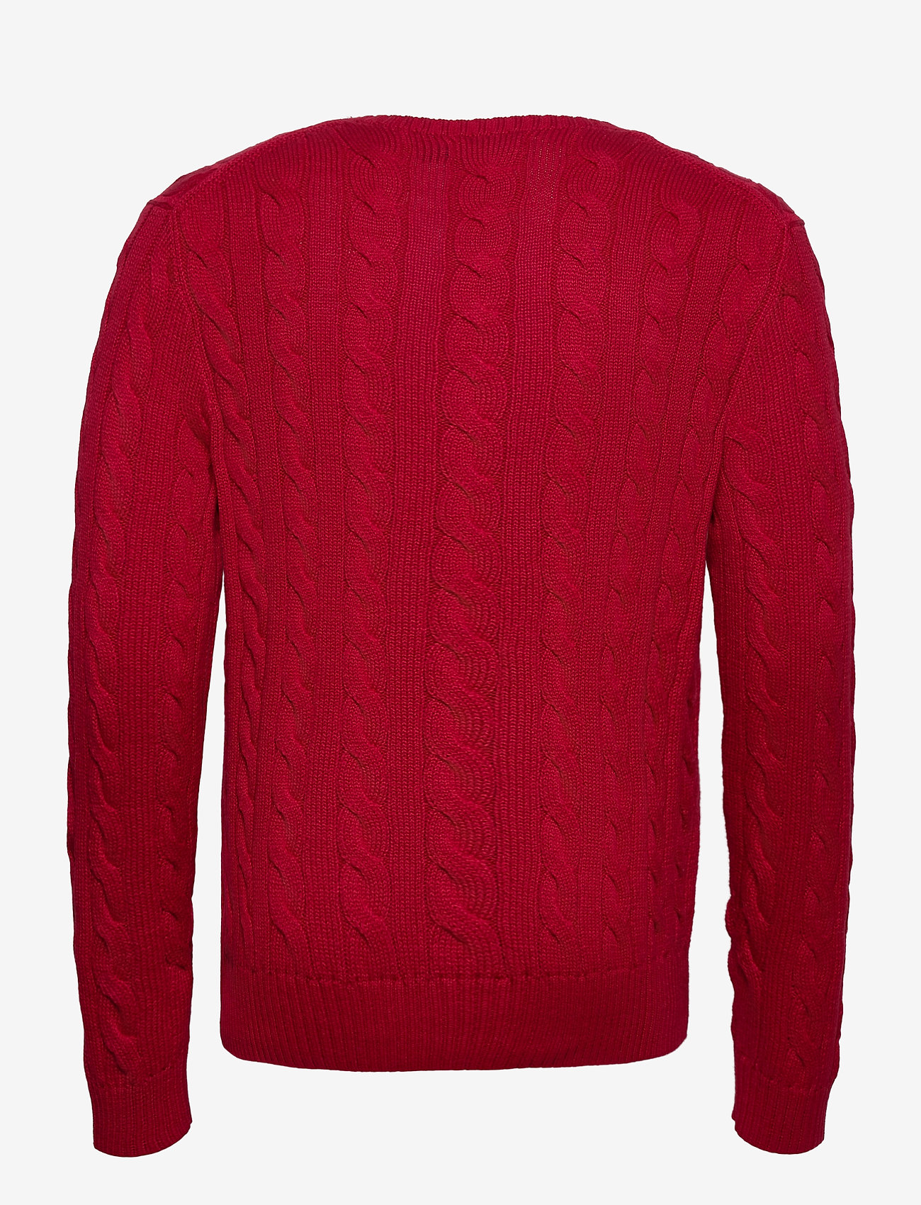 Polo Ralph Lauren - Cable-Knit Cotton Sweater - podstawowa odzież z dzianiny - park avenue red - 1