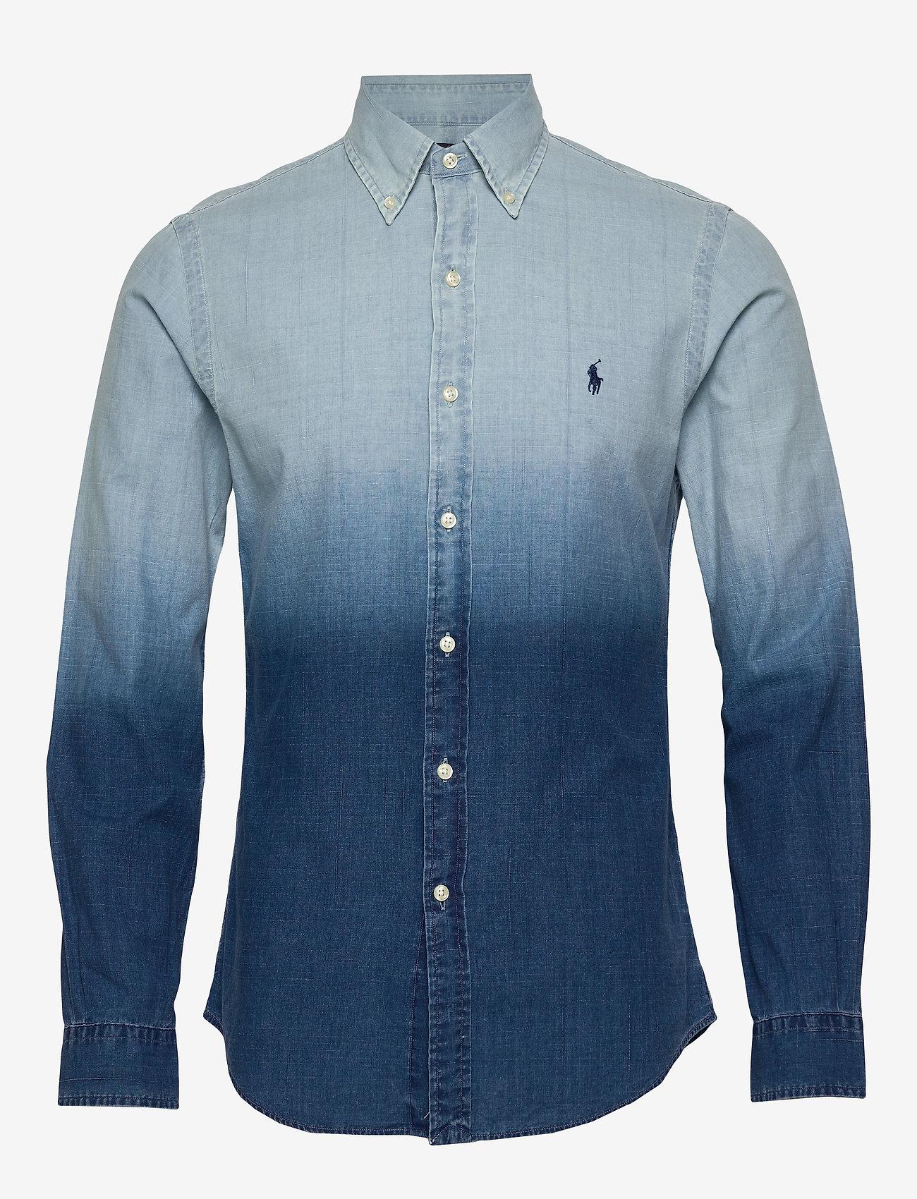 Polo Ralph Lauren - INDIGO SOLID-SL BD PPCSPT - podstawowe koszulki - 4380 blue dip dye - 0