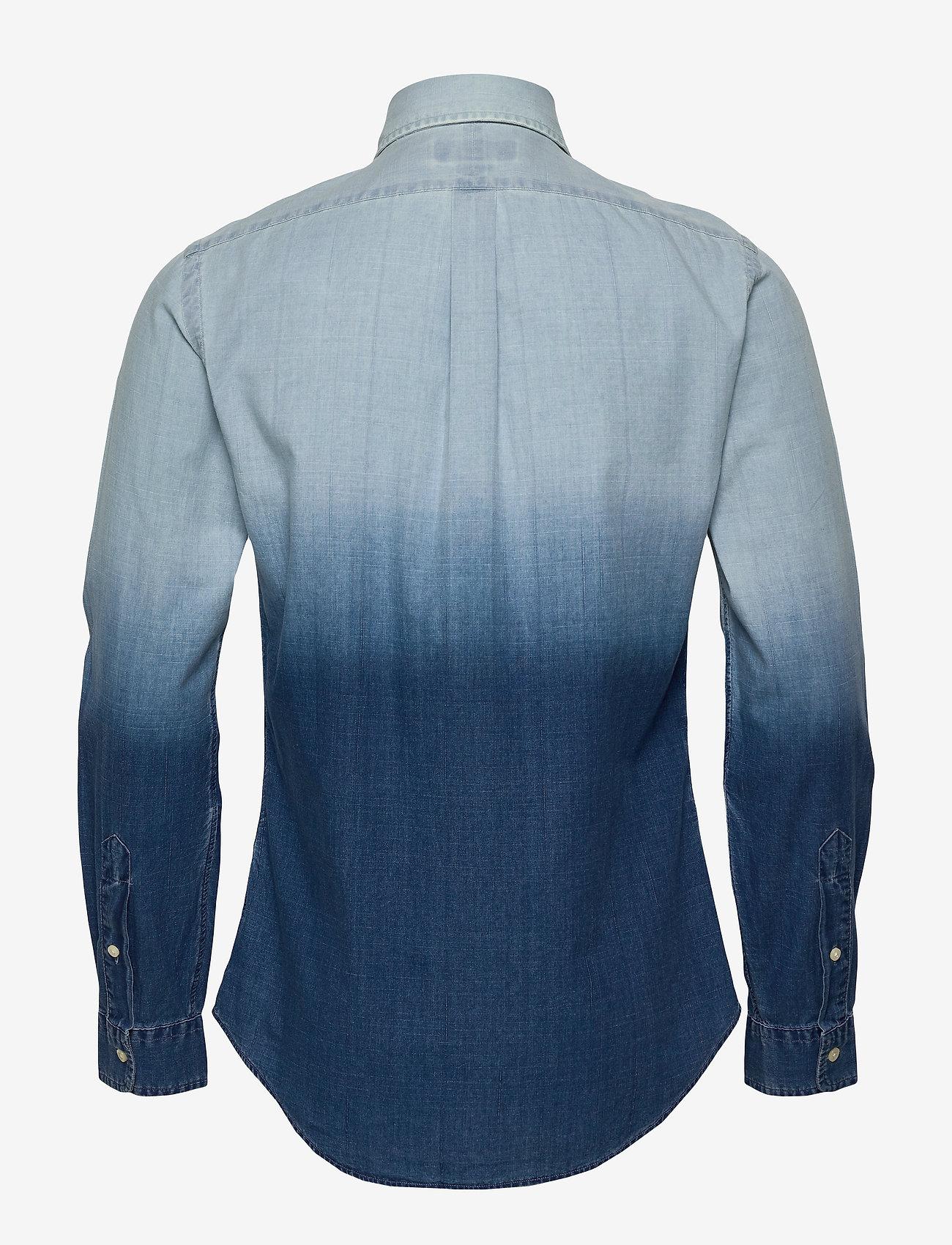 Polo Ralph Lauren - INDIGO SOLID-SL BD PPCSPT - podstawowe koszulki - 4380 blue dip dye - 1