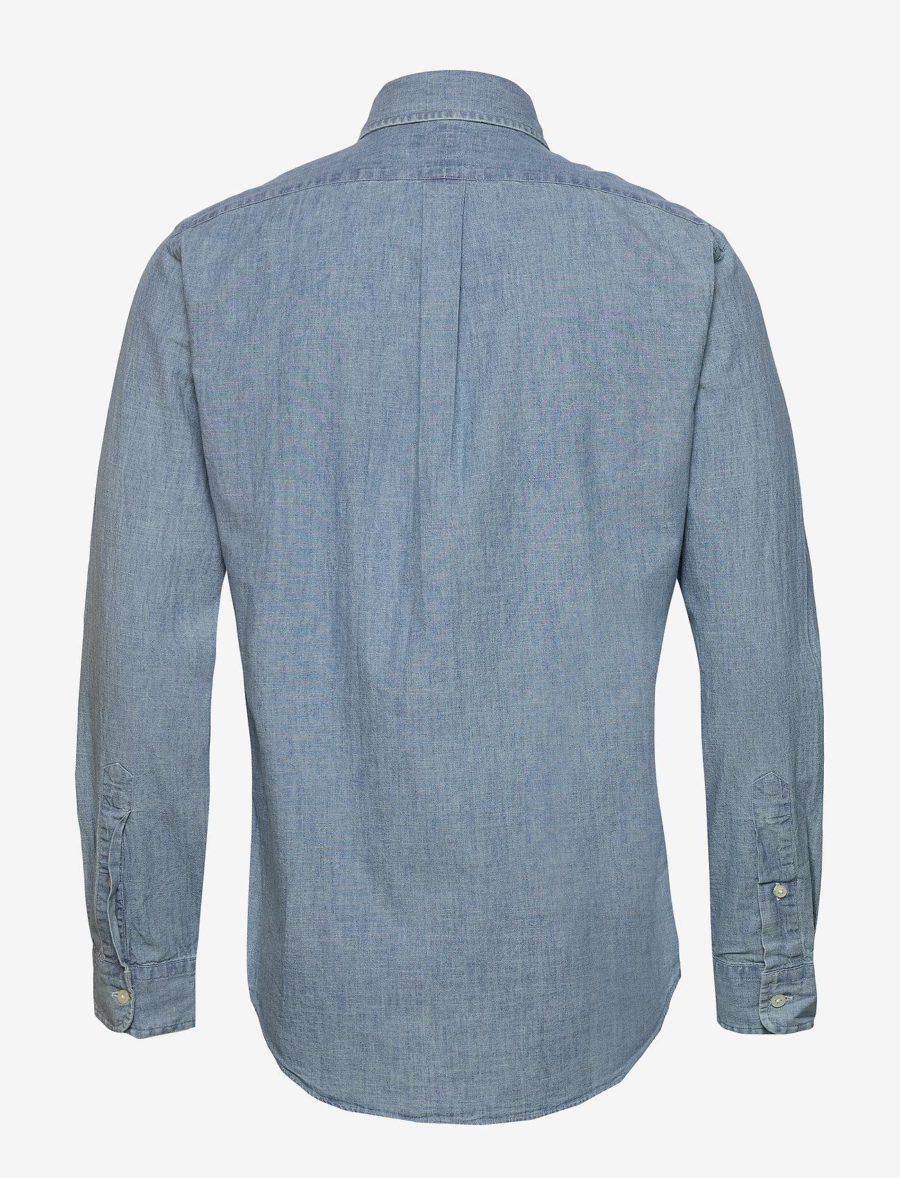 Polo Ralph Lauren - Custom Fit Chambray Shirt - podstawowe koszulki - chambray - 1
