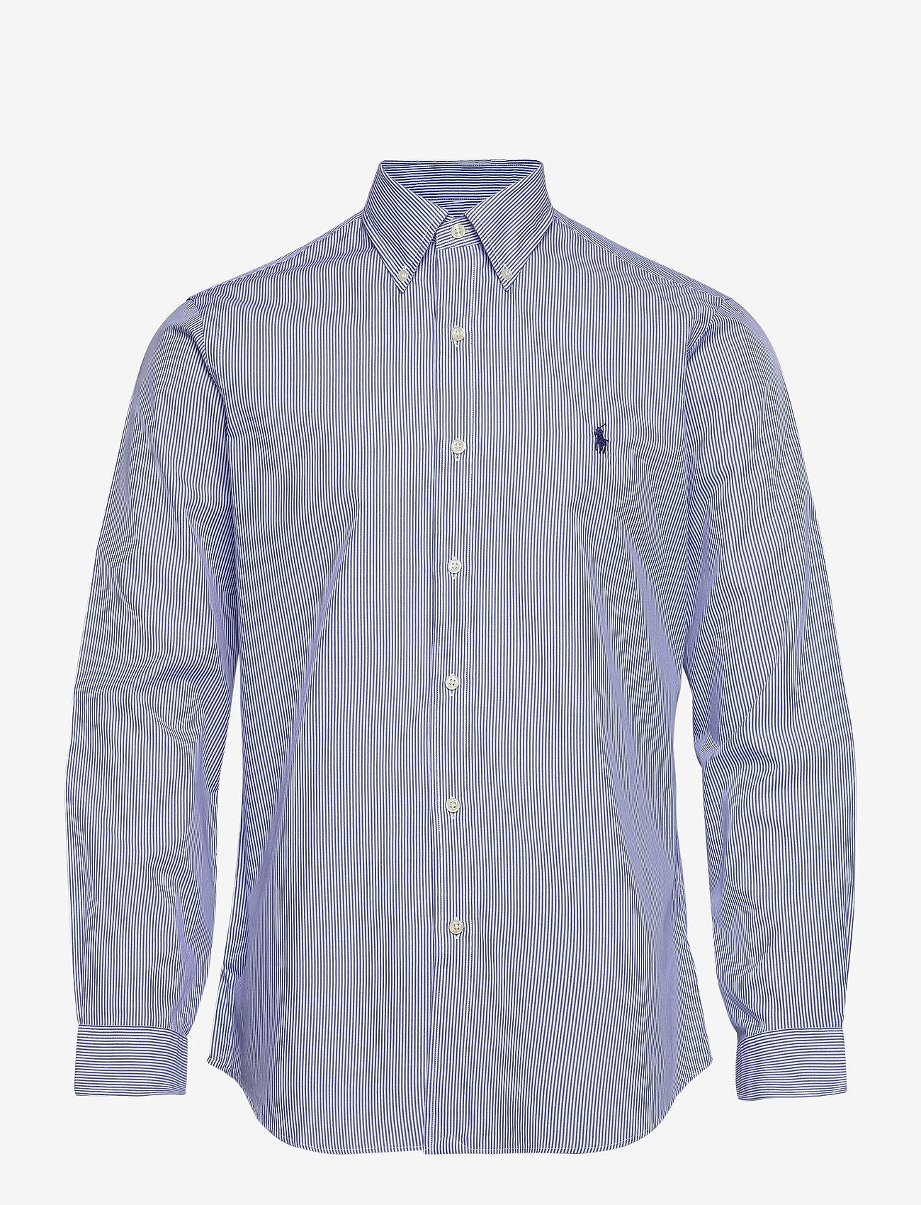 Polo Ralph Lauren - Custom Fit Poplin Shirt - podstawowe koszulki - 2866 blue/white h - 0