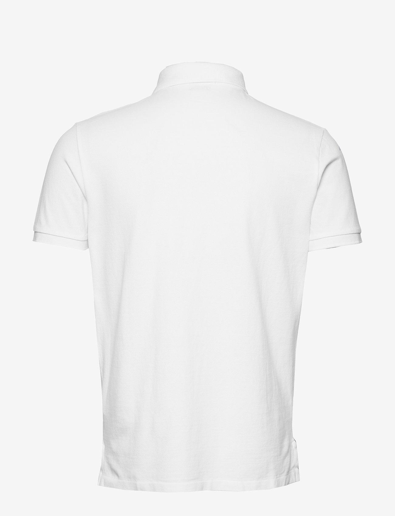 Custom Slim Fit Bear Polo (White) - Polo Ralph Lauren zjHQv0