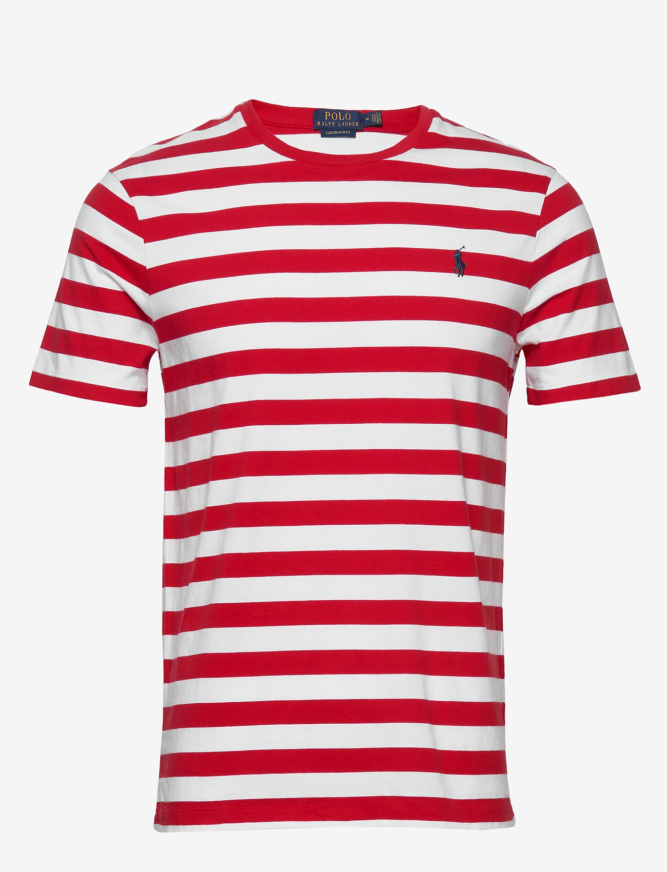 Polo Ralph Lauren - Custom Slim Striped T-Shirt - short-sleeved t-shirts - rl2000 red /white - 0