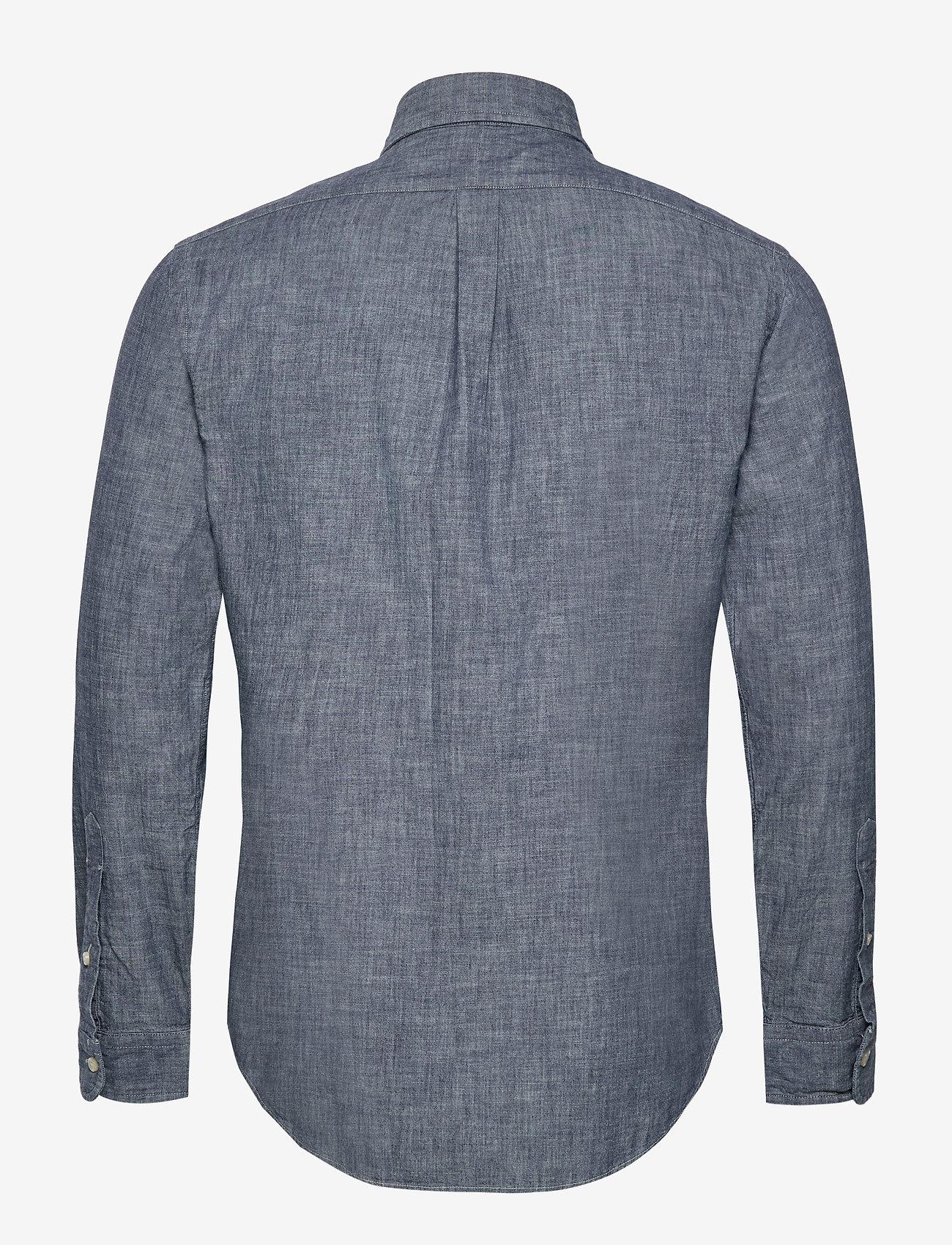 Polo Ralph Laurenslim Fit Indigo Chambray Shirt - Hemden