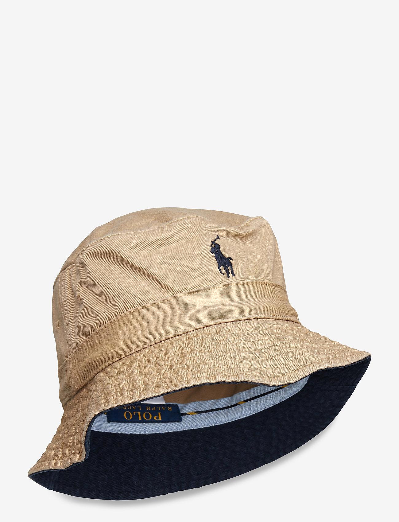 Polo Ralph Lauren - Cotton Chino Bucket Hat - bucket hats - boating khaki - 0