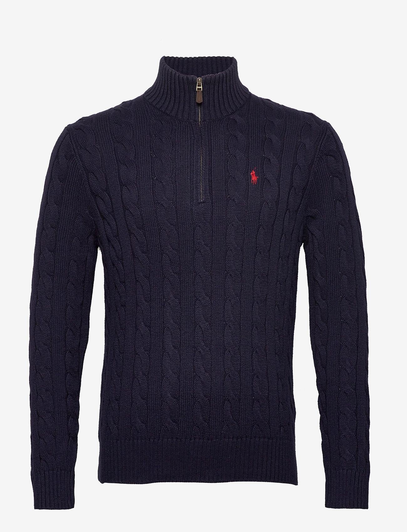 Polo Ralph Lauren - Cable-Knit Cotton Sweater - half zip - hunter navy - 1