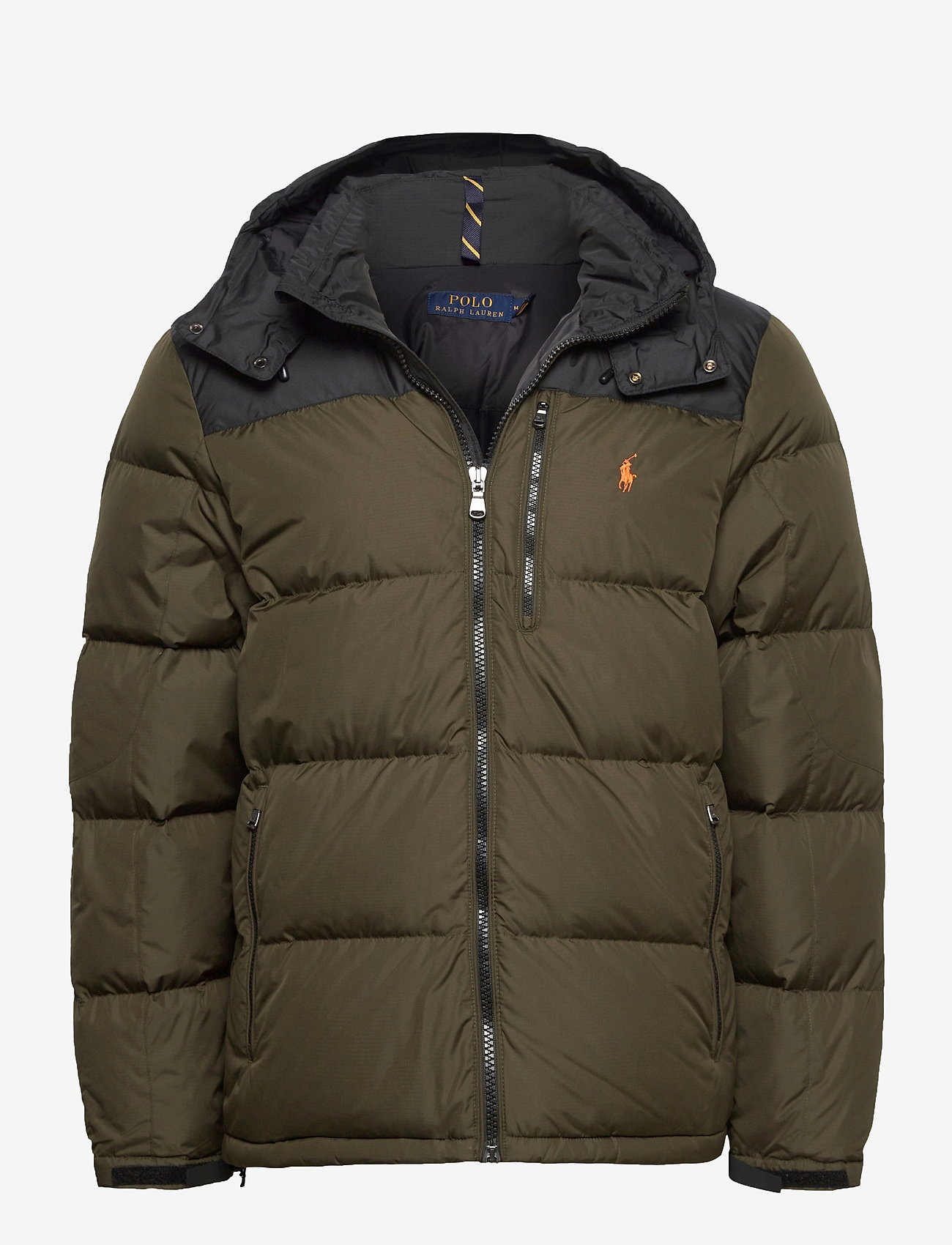 Polo Ralph Lauren - Color-Blocked Down Jacket - padded jackets - company olive/ po - 1