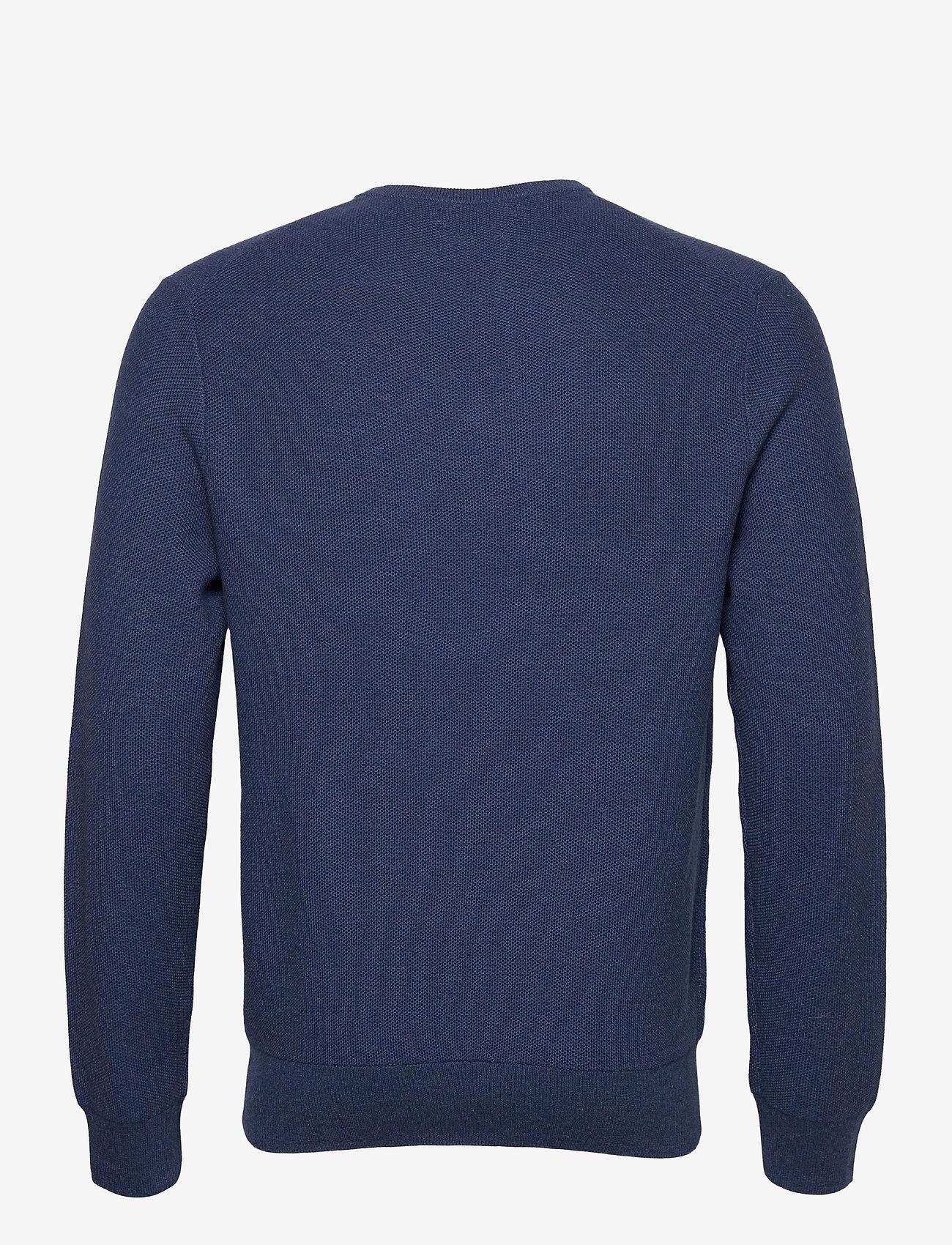 Polo Ralph Lauren - PIMA COTTON-LS TEXTURE VN - tops - rustic navy heath - 1