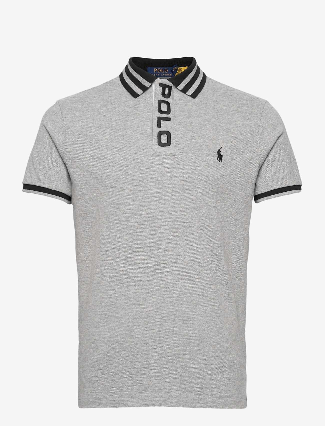 Polo Ralph Lauren - Custom Slim Fit Mesh Polo - short-sleeved polos - andover heather - 1