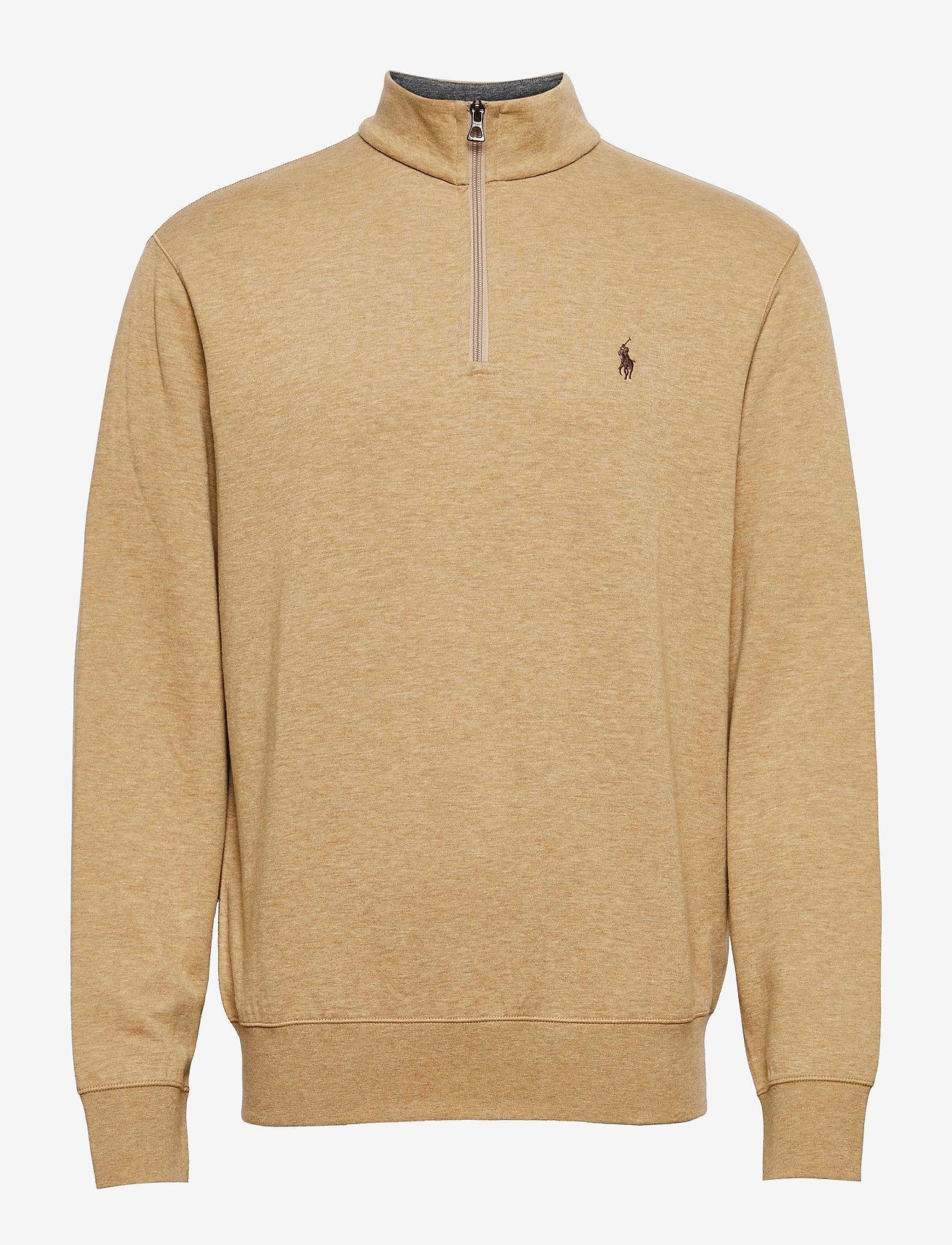 Polo Ralph Lauren - Jersey Quarter-Zip Pullover - half zip - luxury tan heathe - 0