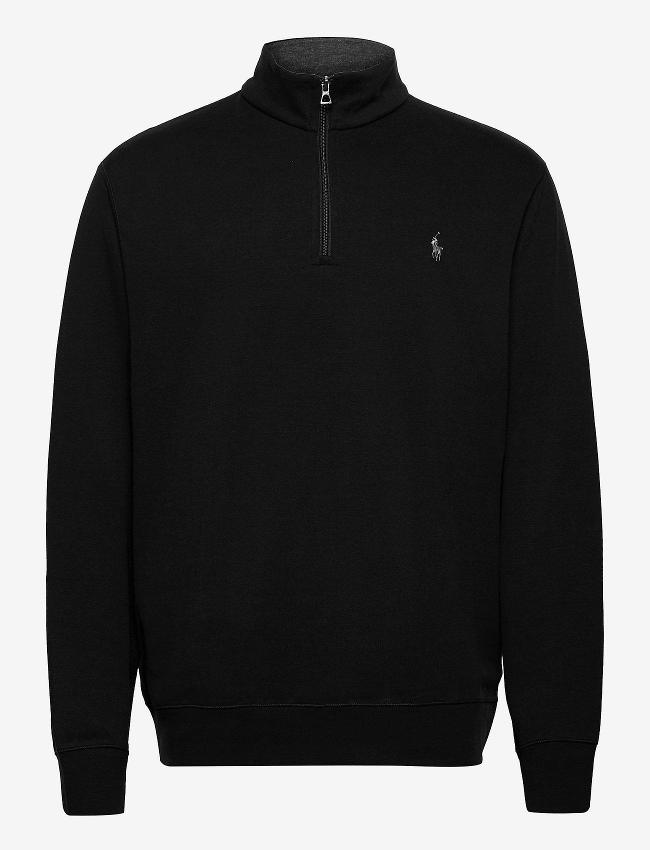 Polo Ralph Lauren - Jersey Quarter-Zip Pullover - half zip - polo black/c9686 - 0