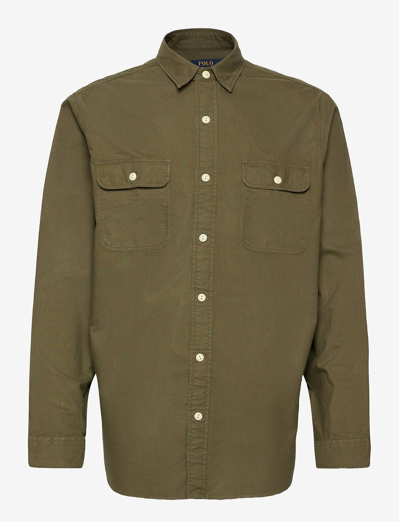 Polo Ralph Lauren - GD OXFORD-LSL-SPS - basic shirts - defender green - 0