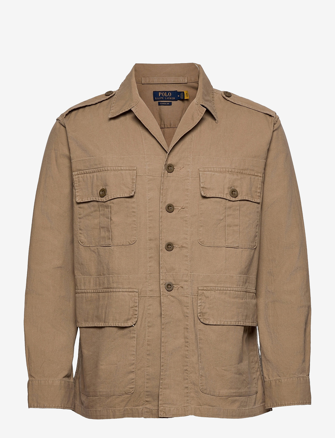 Polo Ralph Lauren - Classic Fit Dobby Utility Shirt - tops - desert khaki - 0