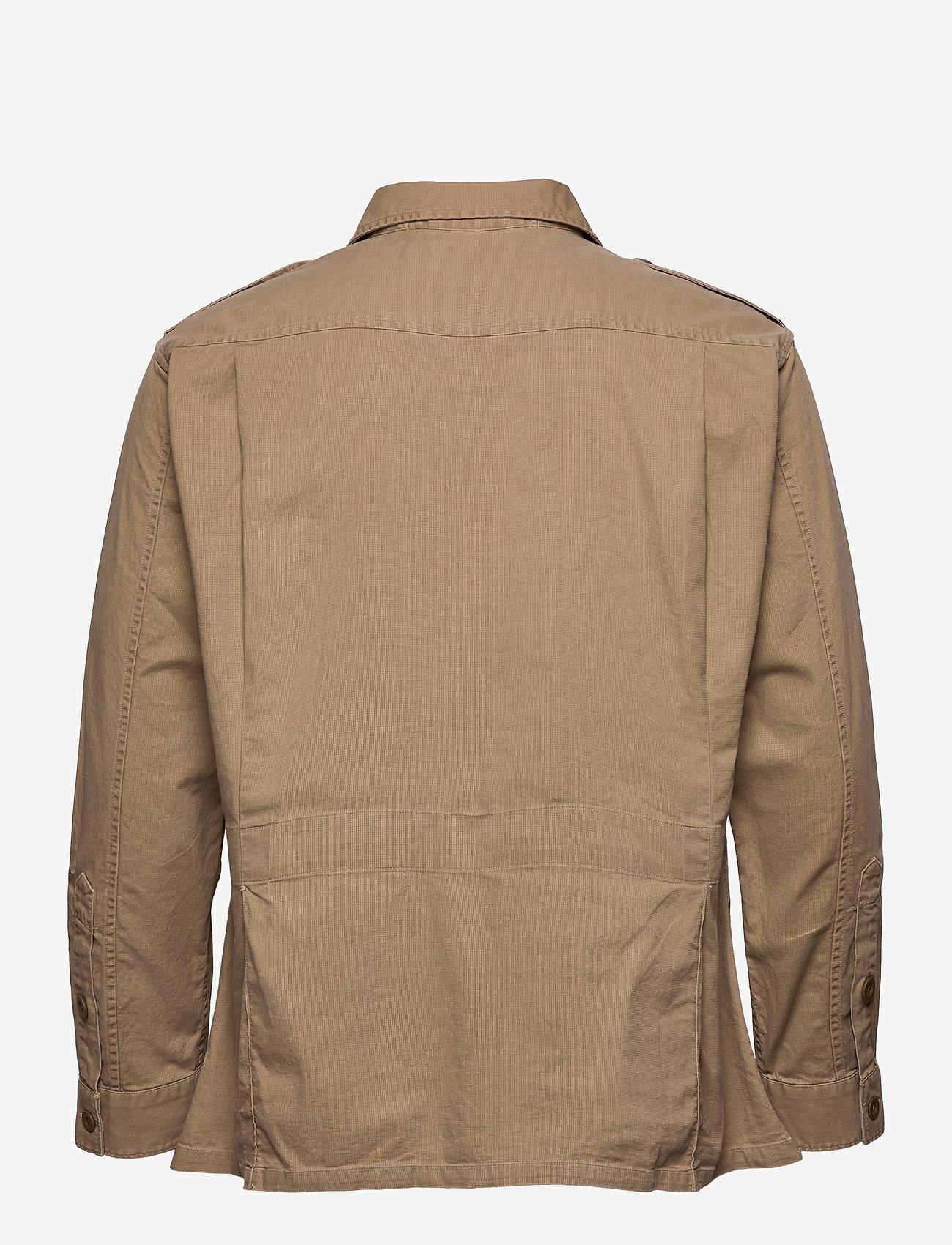 Polo Ralph Lauren - Classic Fit Dobby Utility Shirt - tops - desert khaki - 1