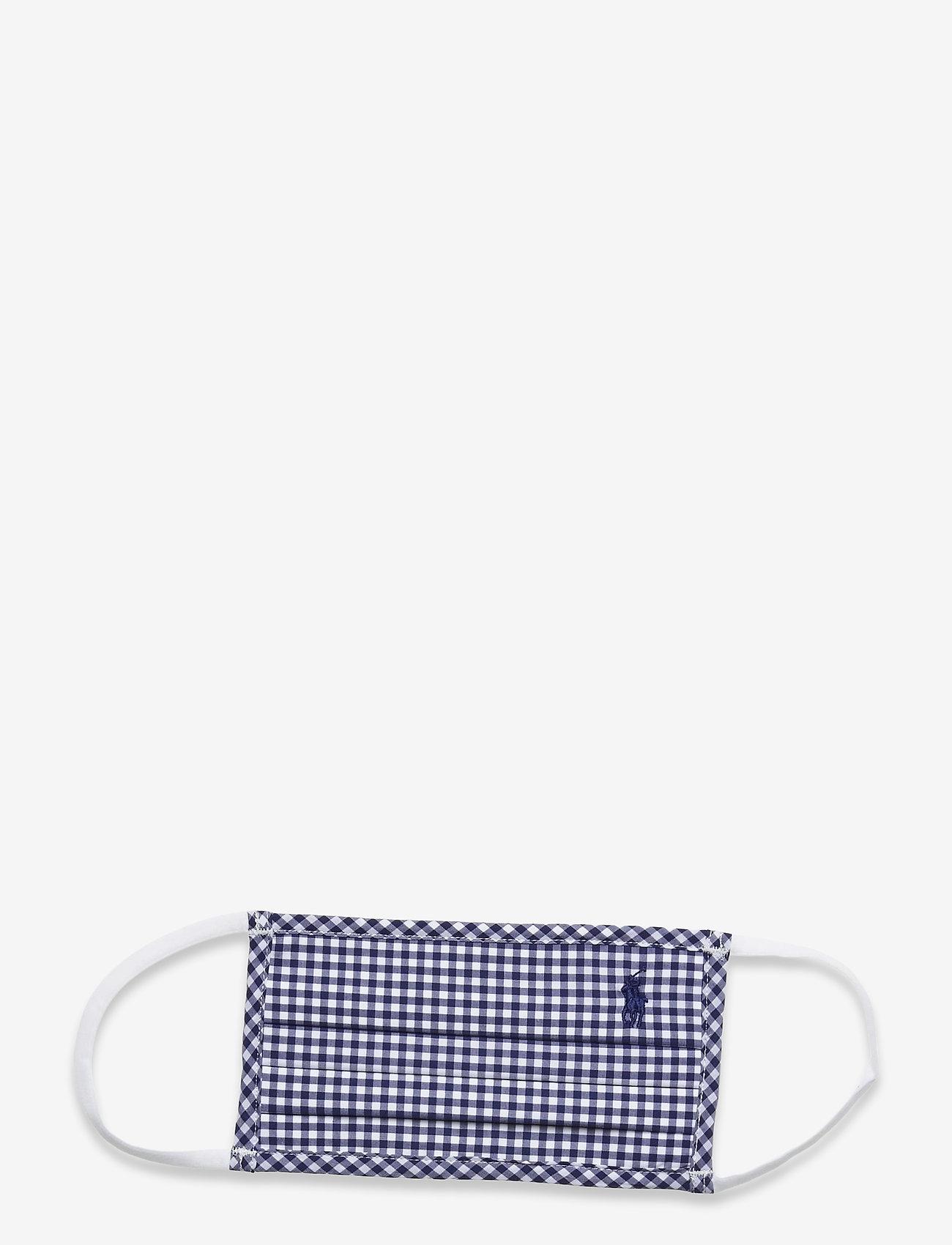 Polo Ralph Lauren - CTN YD PLAINWEAVE-MASK B - ansiktsmasker - 4656a navy/white - 0
