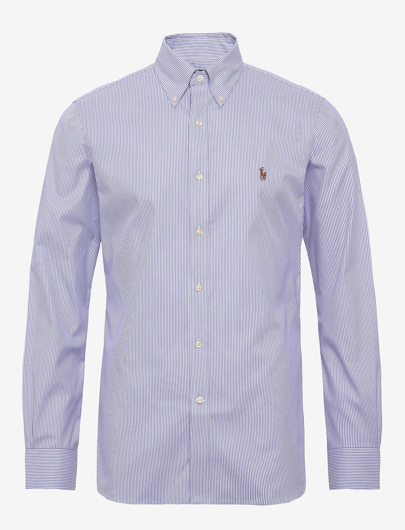 Polo Ralph Lauren - Slim Fit Striped Oxford Shirt - business shirts - 3155b blue/white