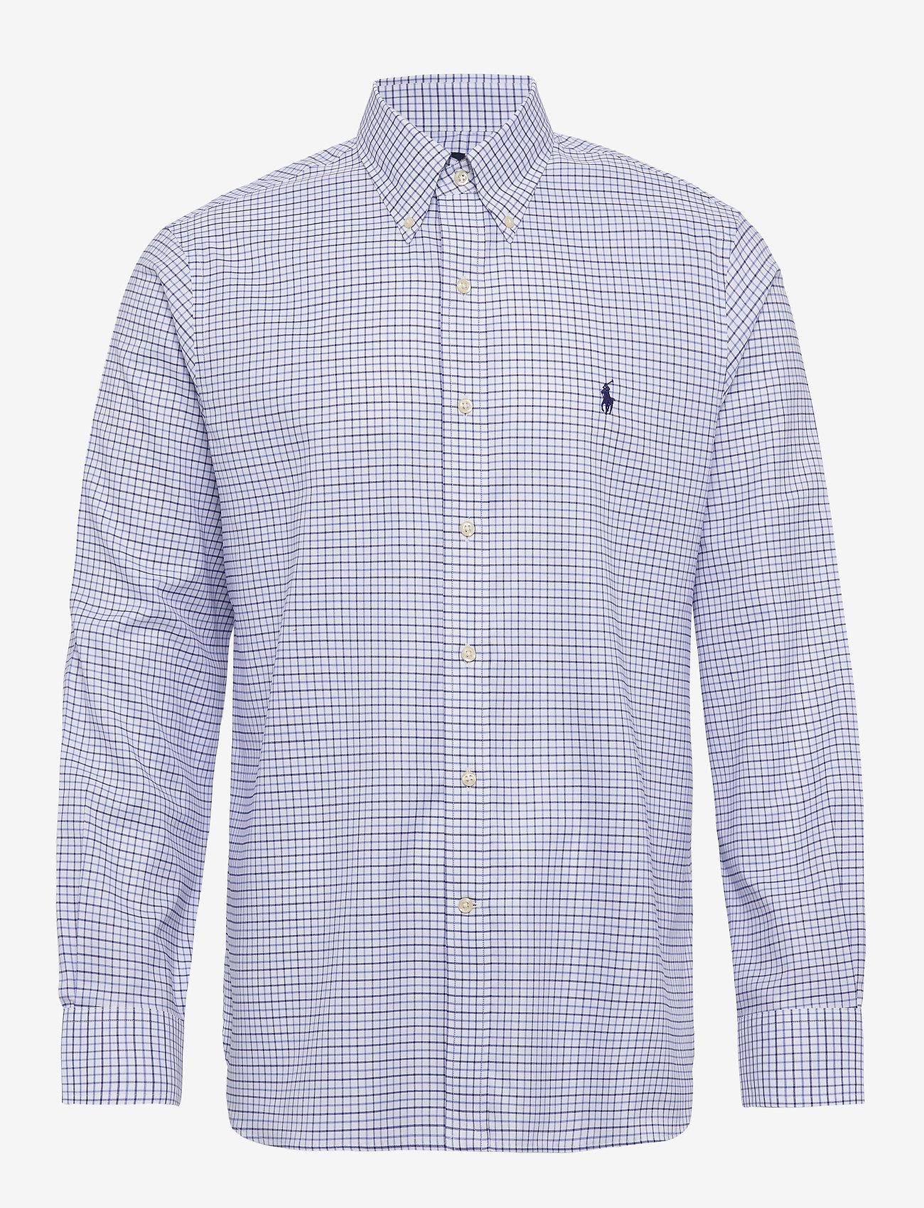 Polo Ralph Lauren - Custom Fit Tattersall Shirt - koszule w kratkę - 3138a cobalt blue - 0