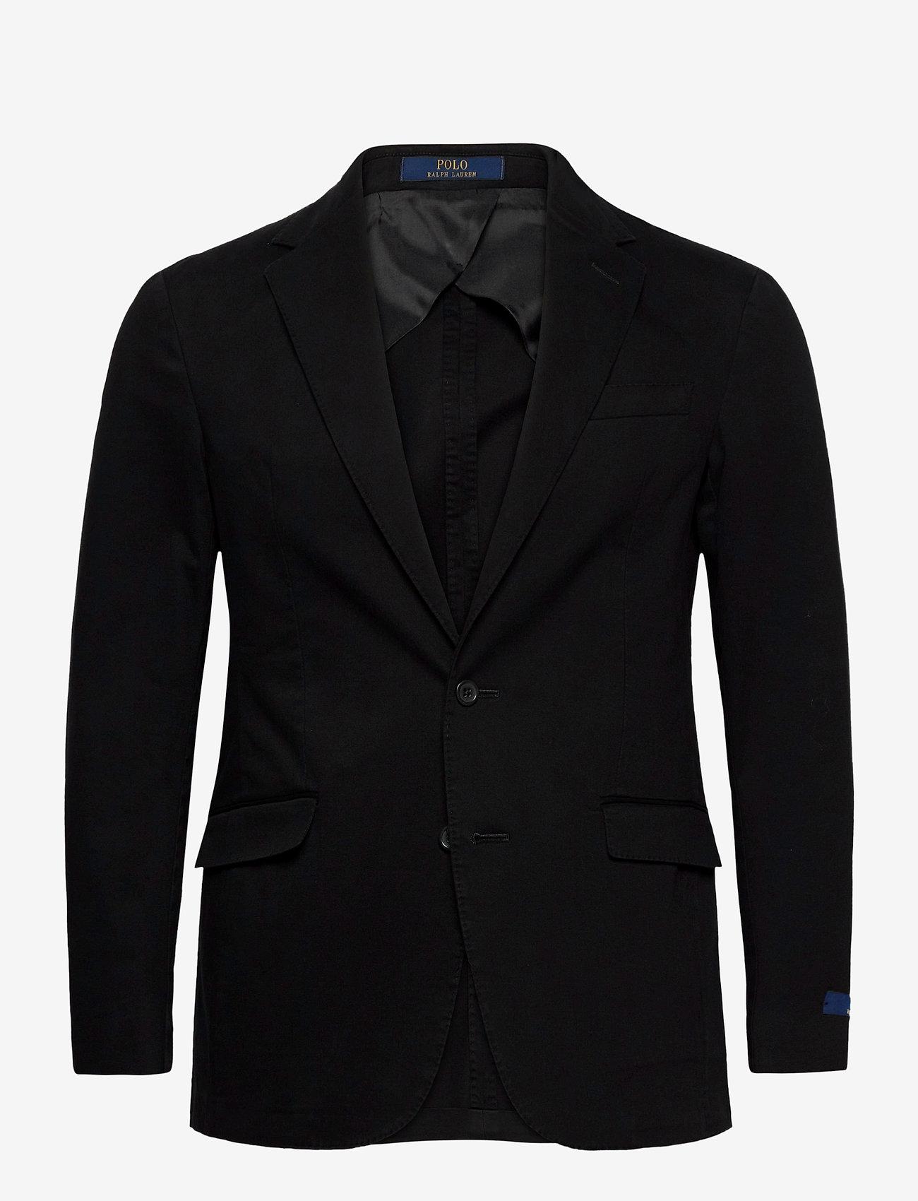 Polo Ralph Lauren - GMT DYE CTN STR CHN-P SOFT 2B NOTCH - enkelknäppta kavajer - black - 0
