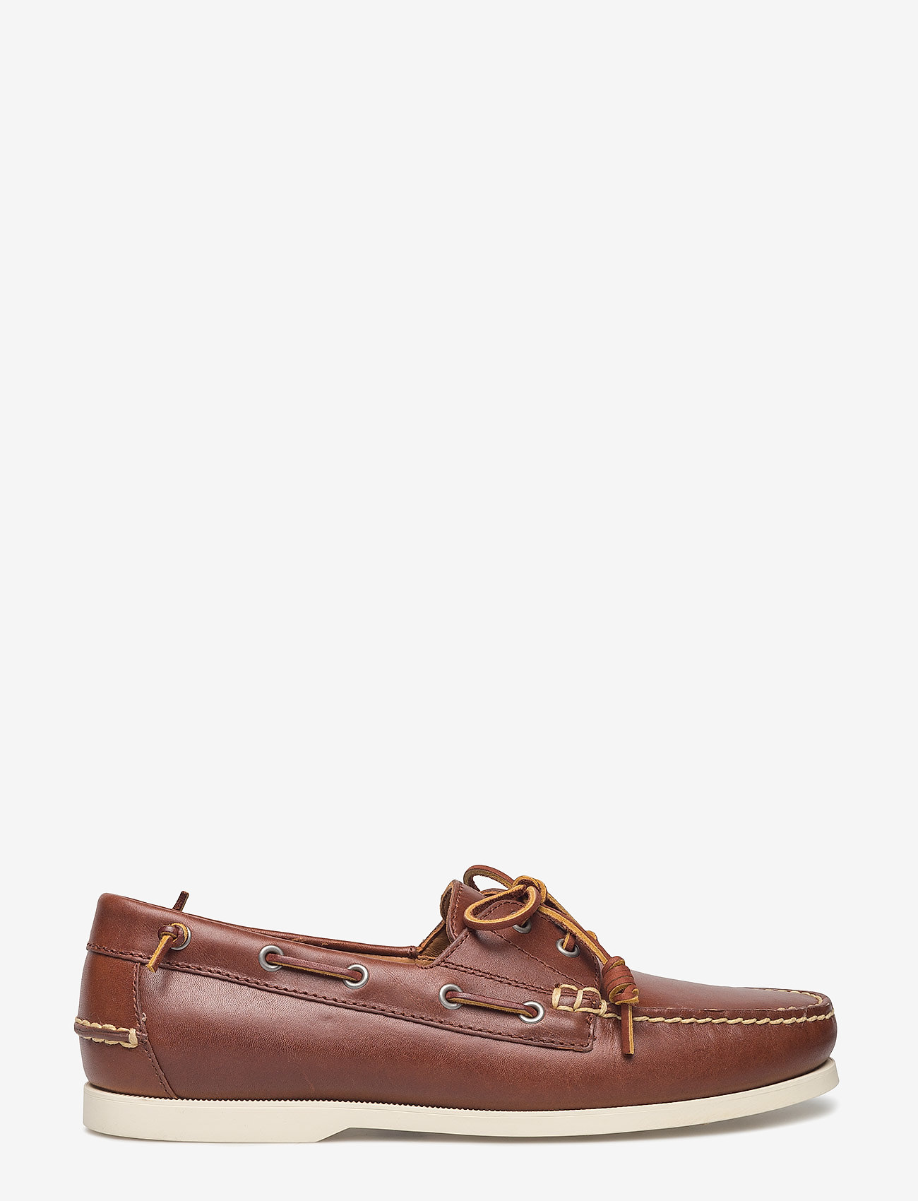 Polo Ralph Lauren - Merton Leather Boat Shoe - boat shoes - deep saddle tan - 1