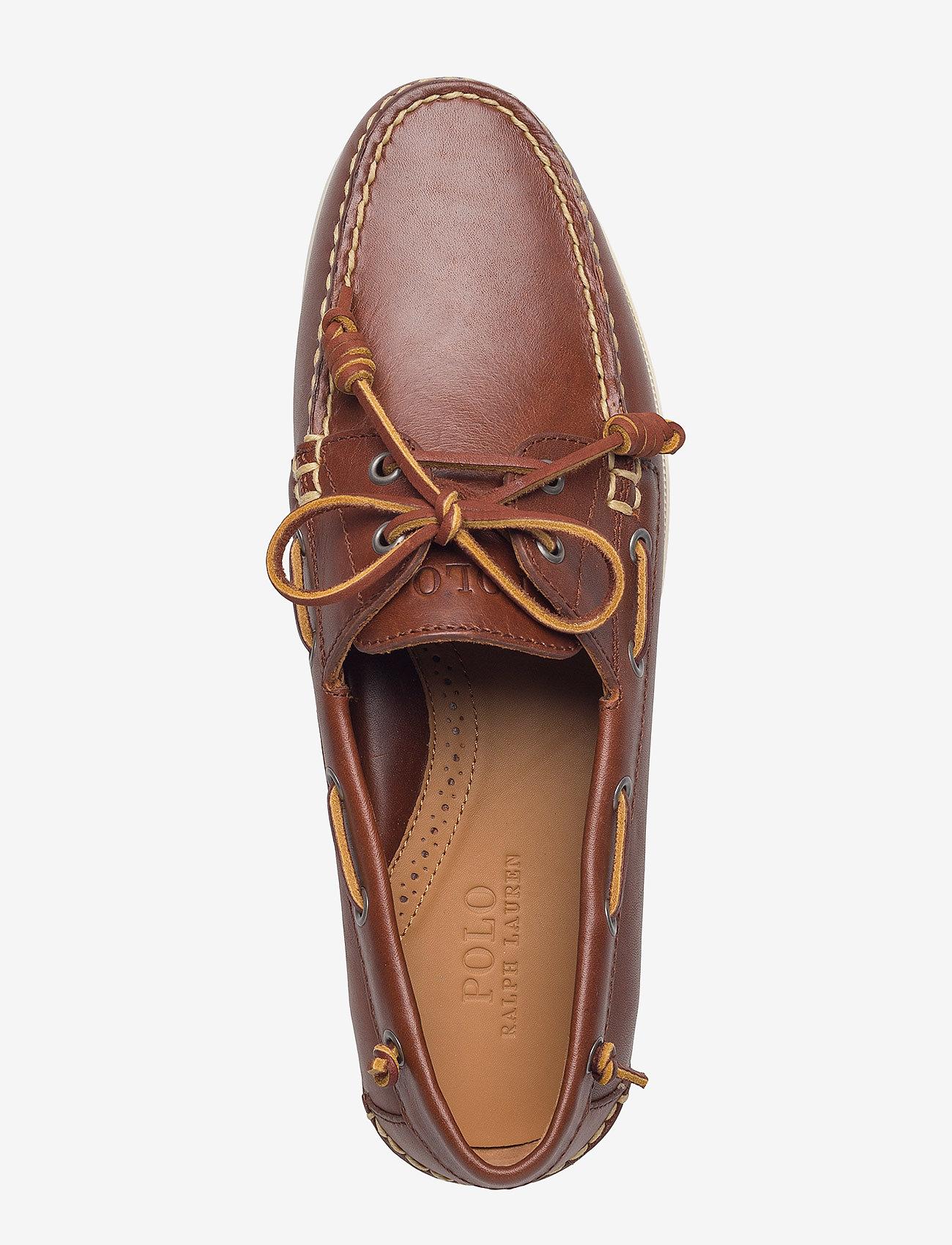 Merton Leather Boat Shoe (Deep Saddle Tan) - Polo Ralph Lauren