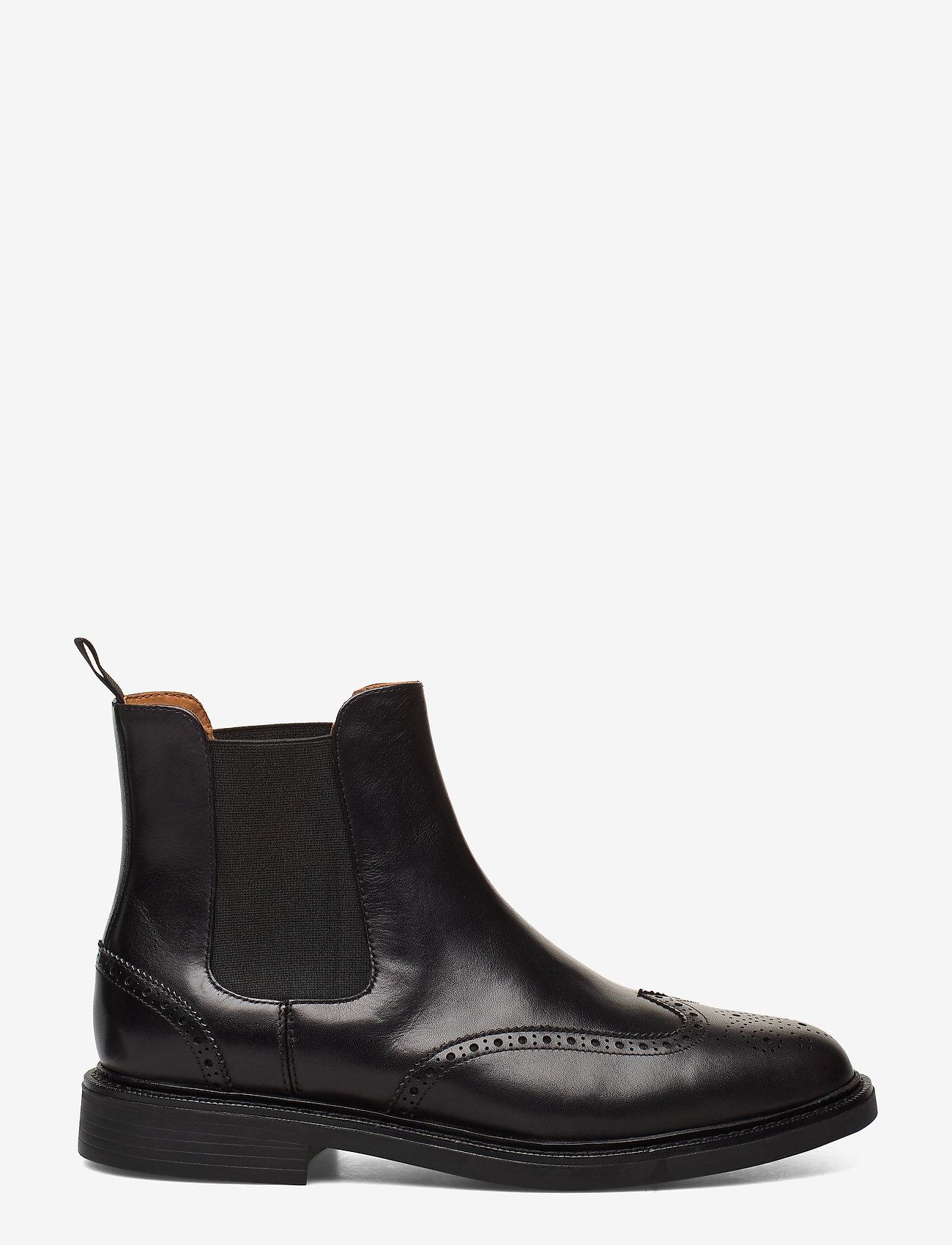 Polo Ralph Lauren - Asher Wingtip Chelsea Boot - chelsea boots - black - 1