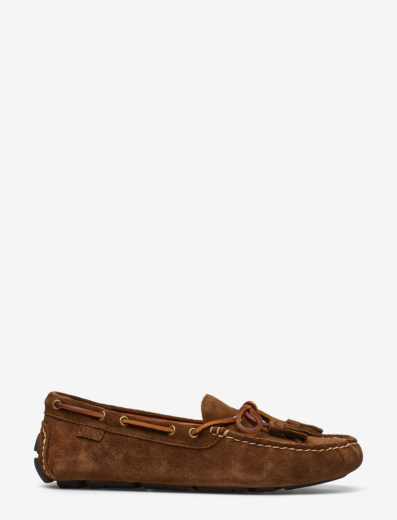 Polo Ralph Lauren - Anders Tasseled Suede Driver - shoes - chocolate brown - 1