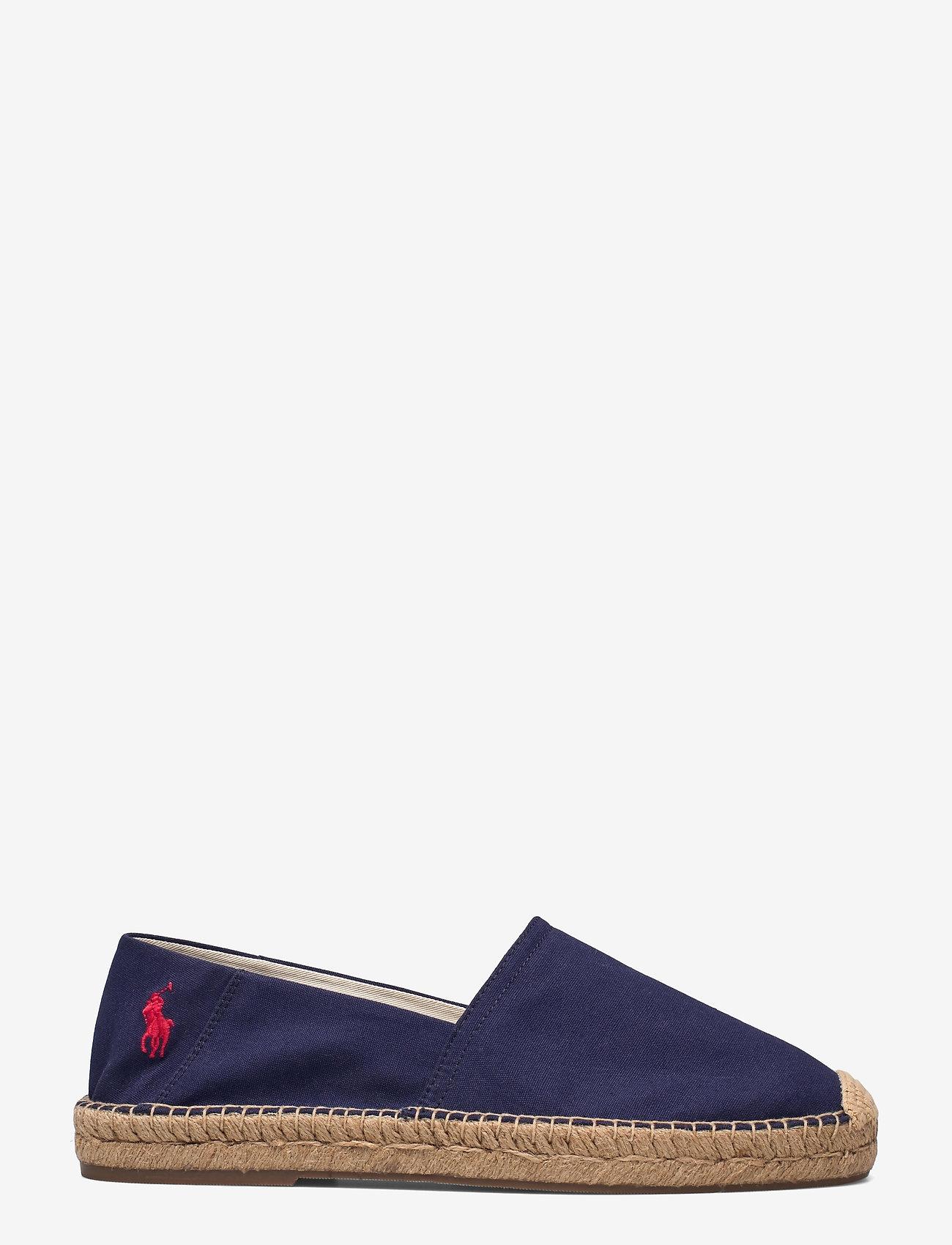 Polo Ralph Lauren - Cevio Cotton Canvas Espadrille - sko - newport navy/red - 1