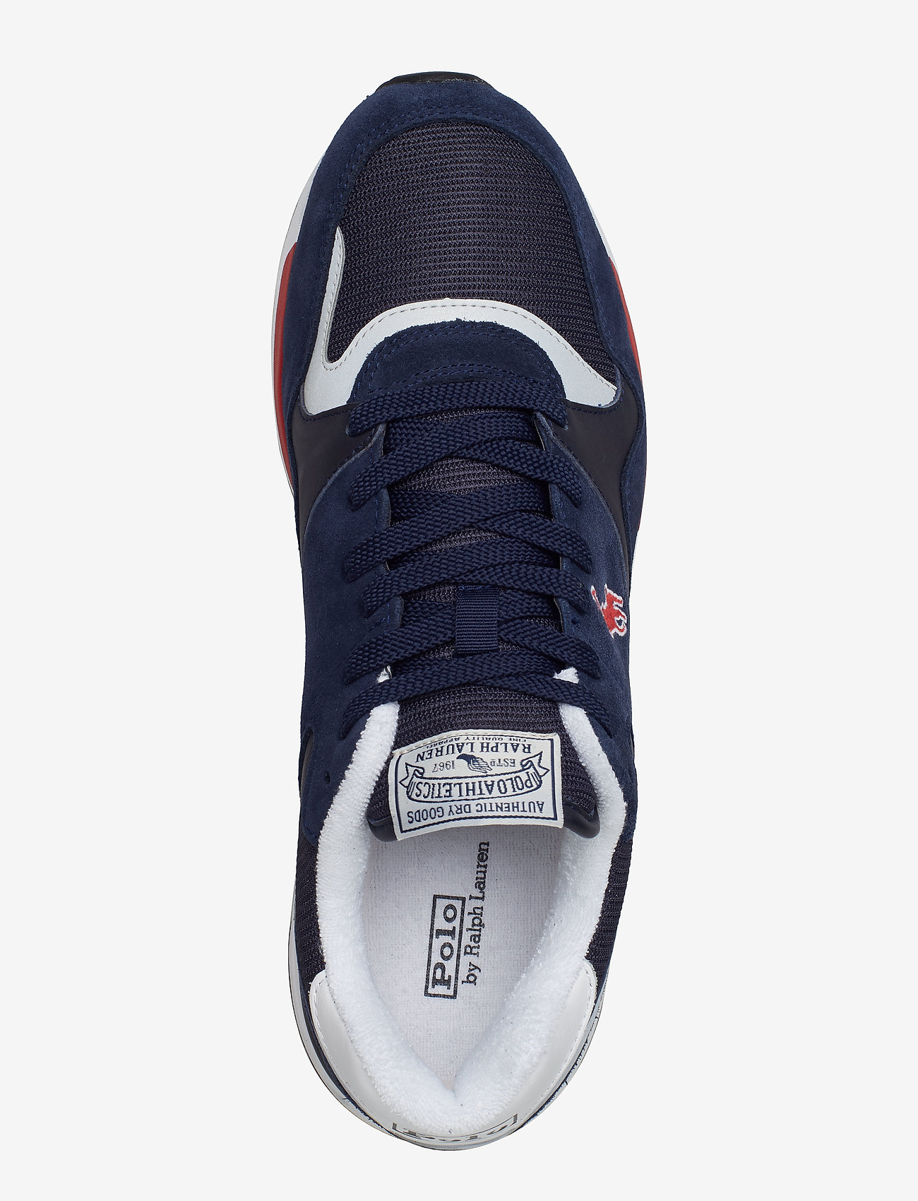 Trackster 100 Leather Sneaker (Newport Navy/auth) - Polo Ralph Lauren