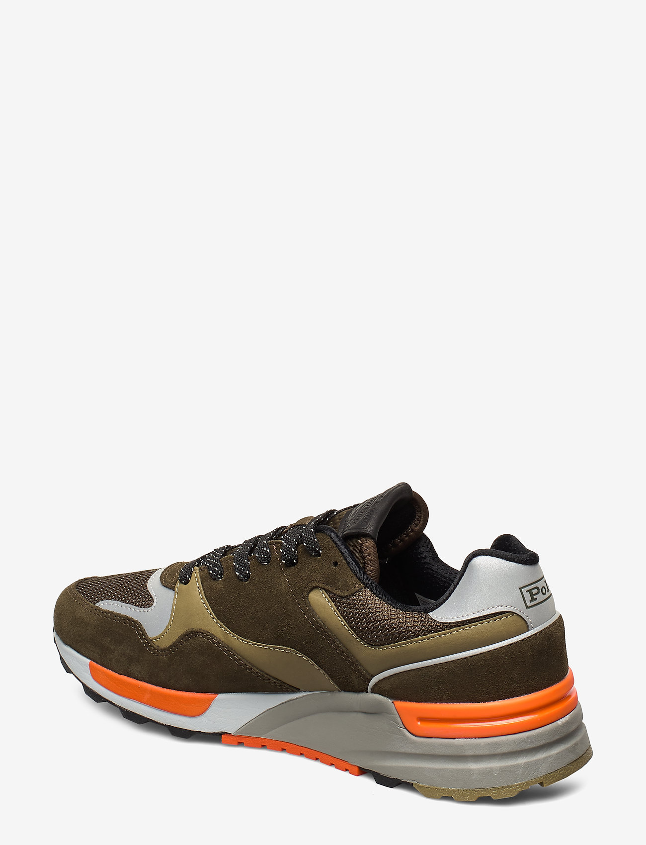 Trackster 100 Suede Sneaker (Deep Olive/basket) - Polo Ralph Lauren