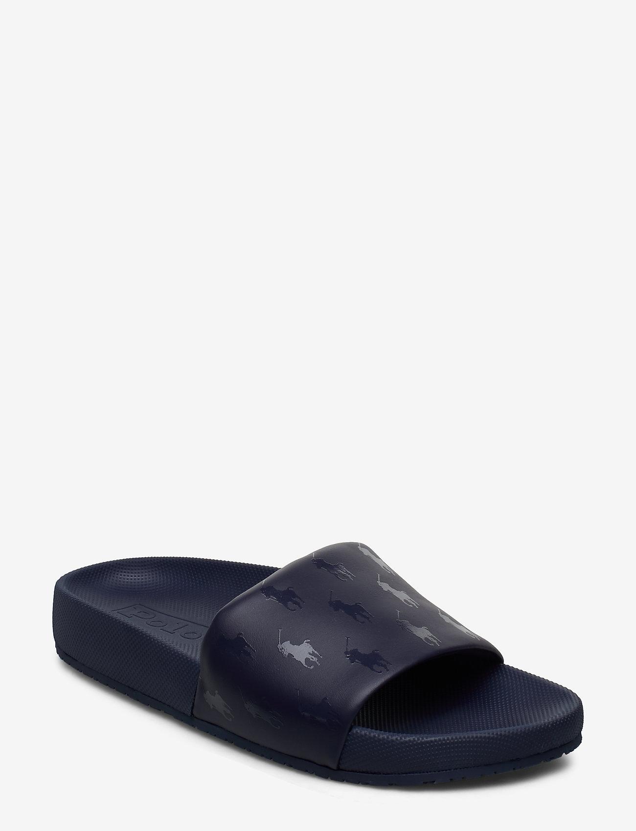 Polo Ralph Lauren - Cayson Pony Slide Sandal - pool sliders - newport navy - 0