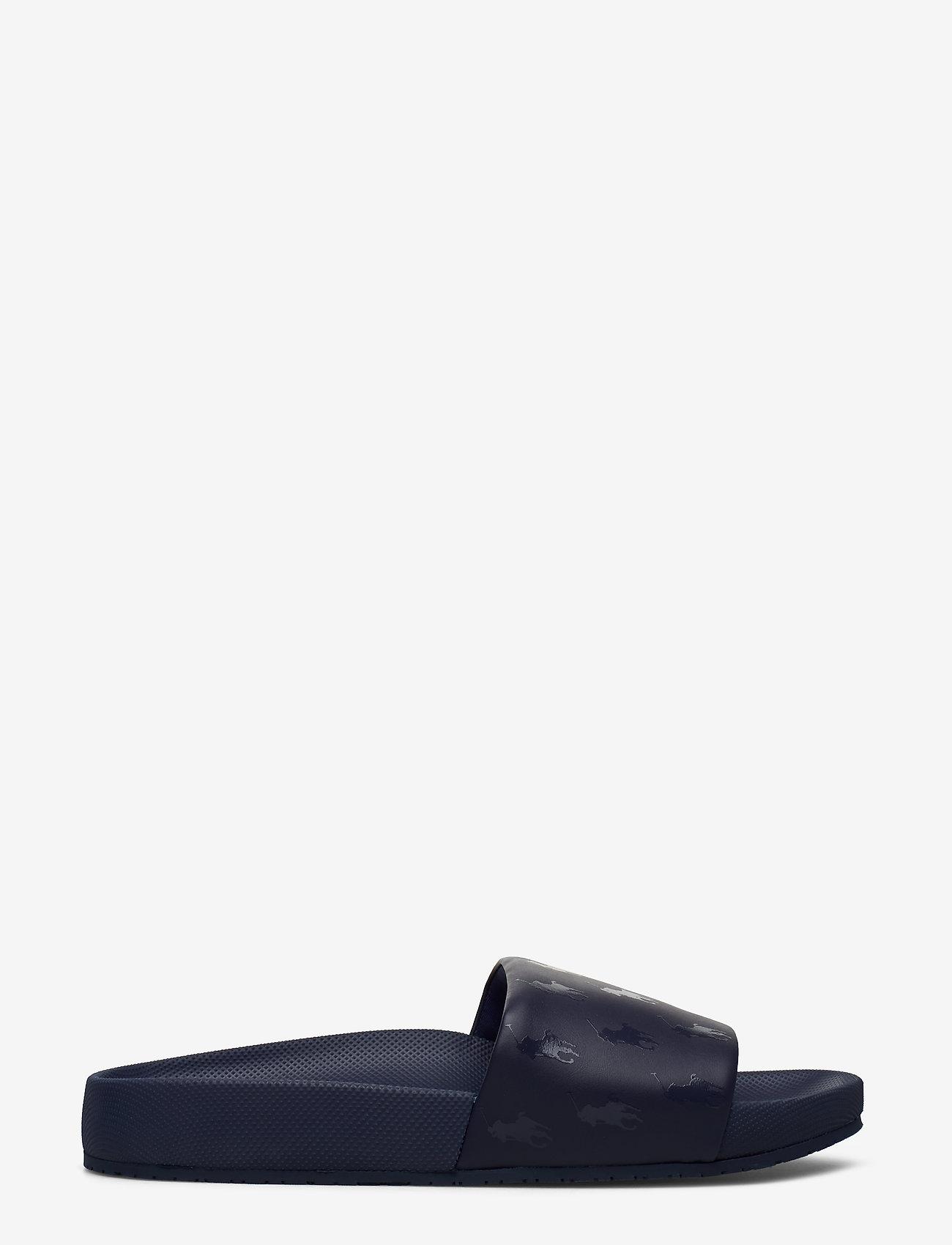 Polo Ralph Lauren - Cayson Pony Slide Sandal - pool sliders - newport navy - 1