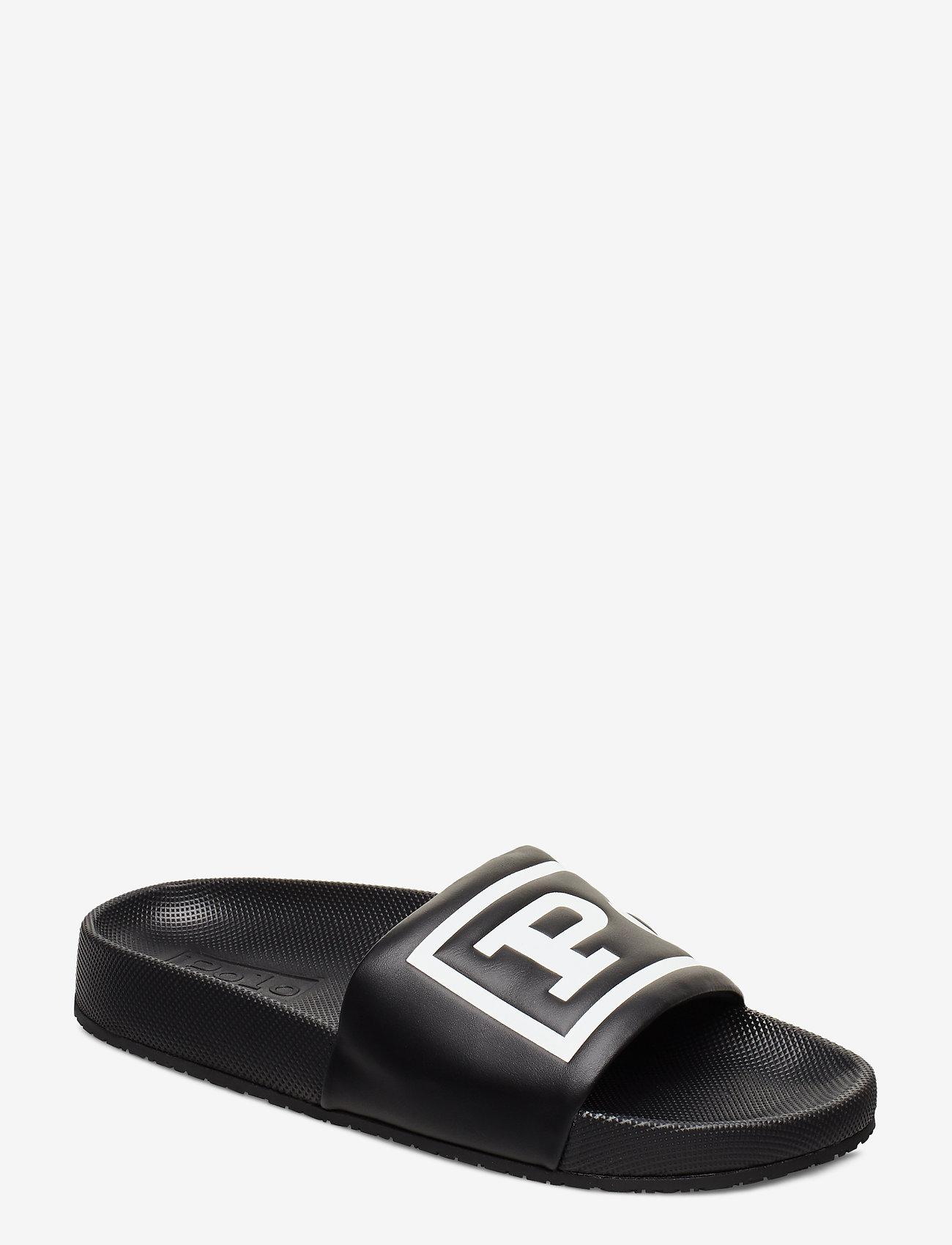 Polo Ralph Lauren - Cayson Polo Slide Sandal - pool-sandalen - black/white - 0