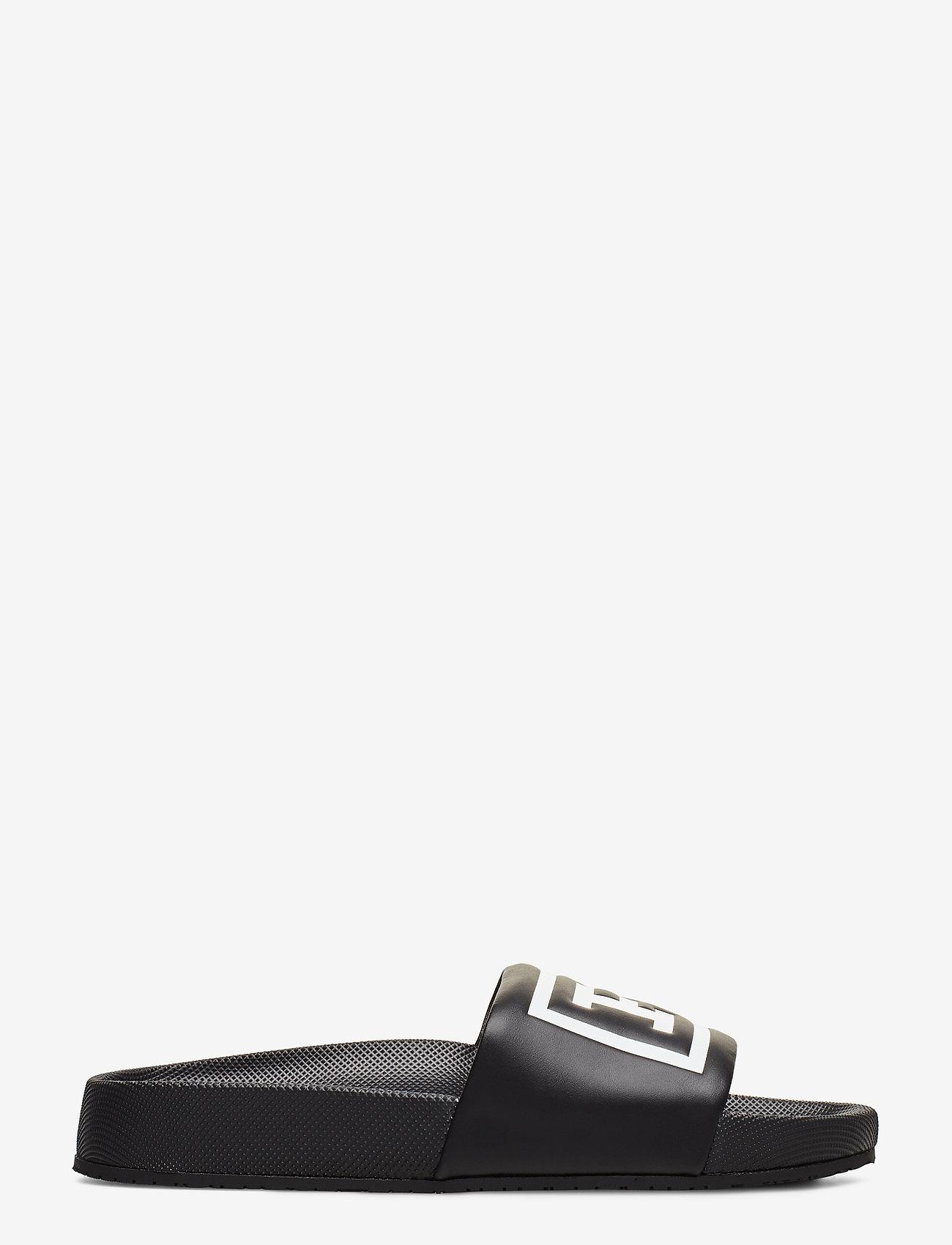 Polo Ralph Lauren - Cayson Polo Slide Sandal - pool-sandalen - black/white - 1