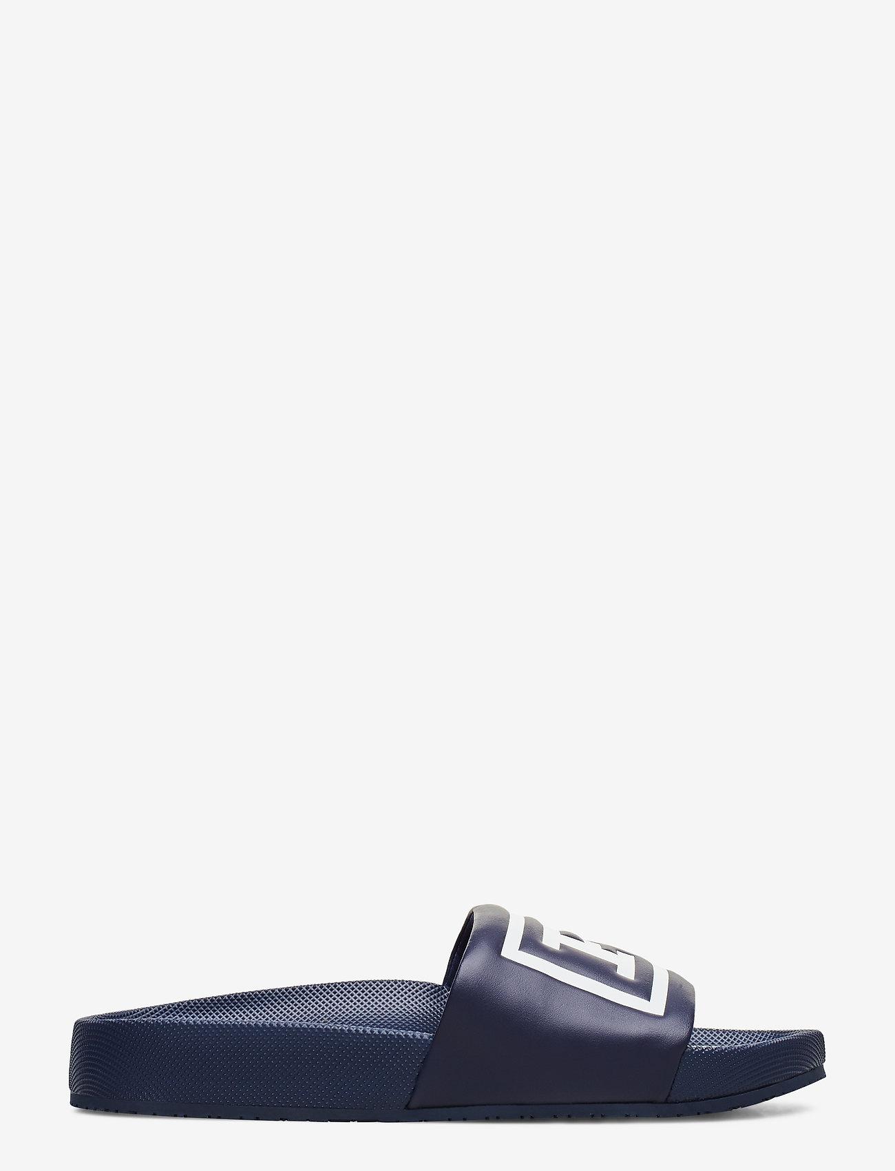 Polo Ralph Lauren - Cayson Polo Slide Sandal - pool sliders - newport navy/whit - 1